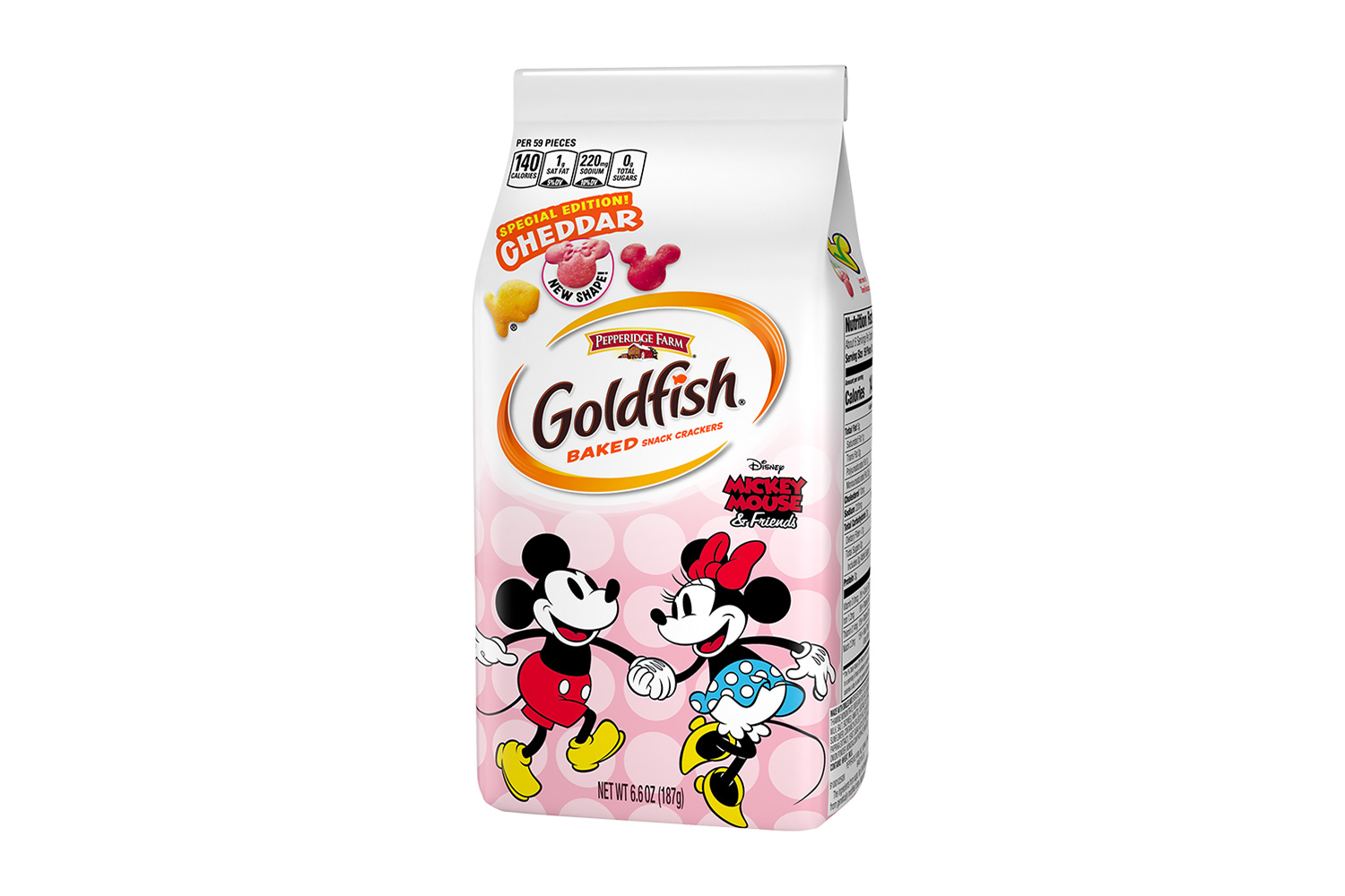 Goldfish Mickey and Minnie Pink Packaging