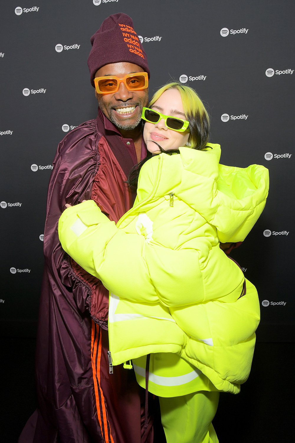 "Billy Porter and Billie Eilish attend Spotify Hosts ""Best New Artist"" Party at The Lot Studios on January 23, 2020 in Los Angeles, California"