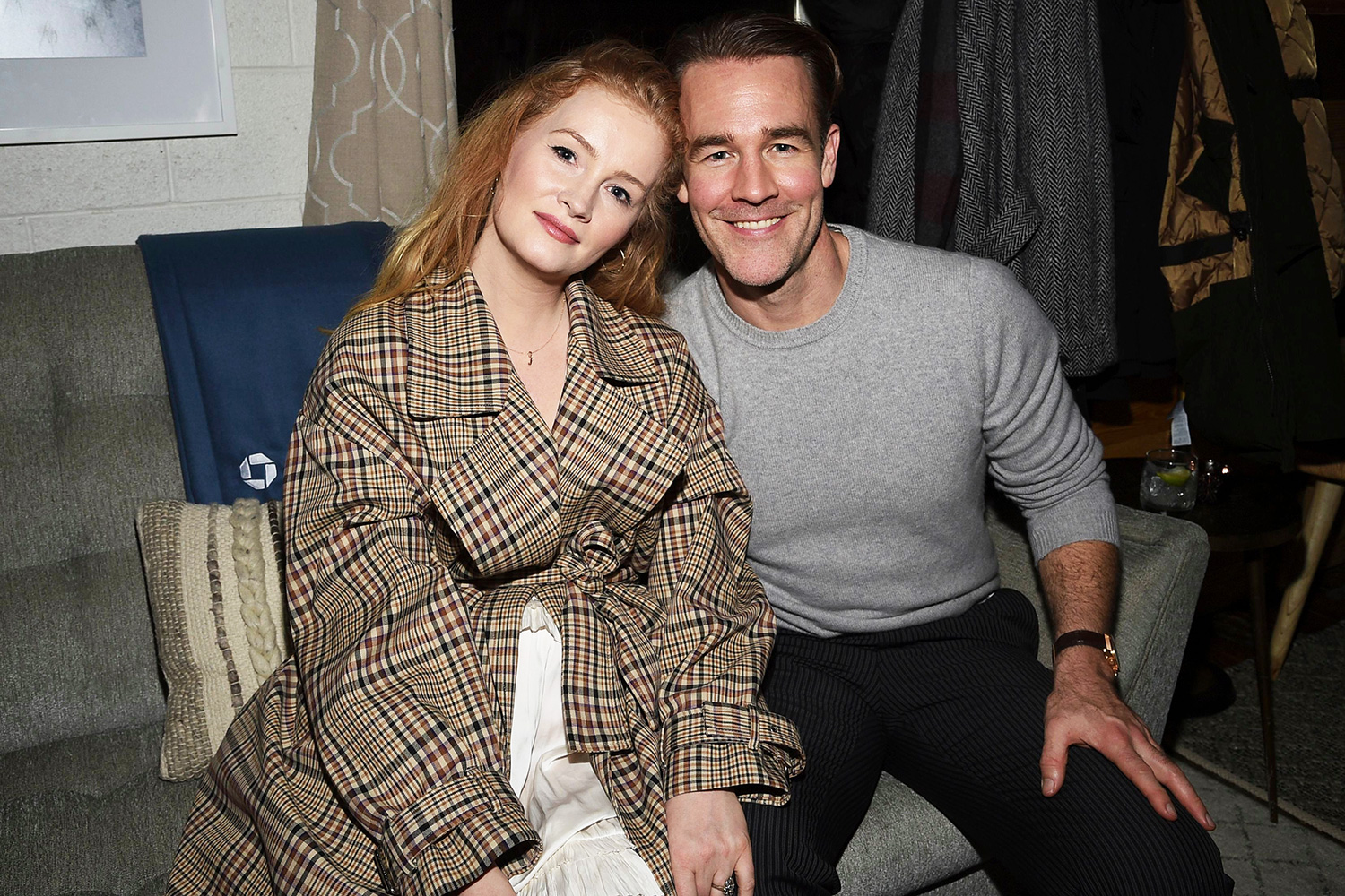 """Kimberly Van Der Beek, James Van Der Beek. IMAGE DISTRIBUTED FOR CHASE SAPPHIRE - Actor James Van Der Beek and wife Kimberly Van Der Beek at the """"Bad Hair"""" after party at Chase Sapphire on Main during the Sundance Film Festival 2020, in Park City, Utah """"Bad Hair"""" Cast Party Hosted by Chase Sapphire, Park City, USA - 23 Jan 2020"""