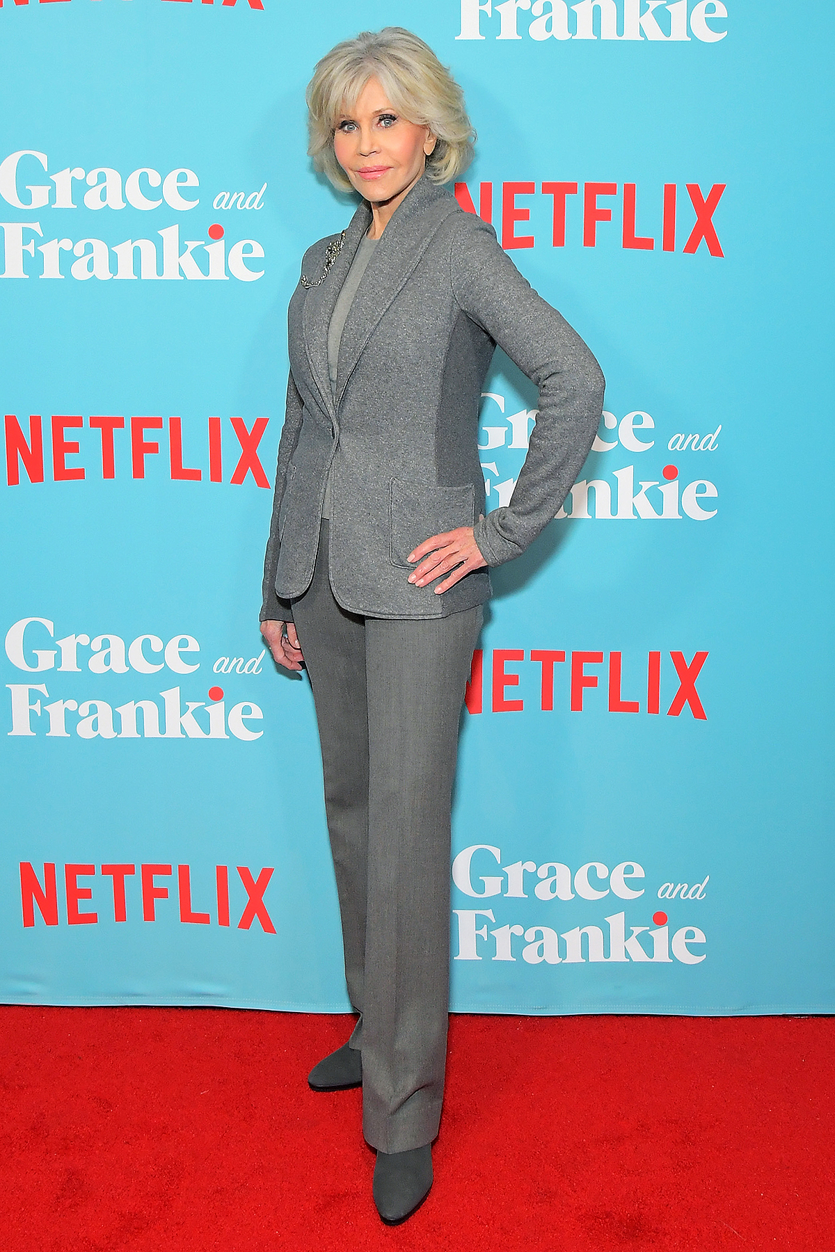 "Jane Fonda attends a special screening of ""Grace and Frankie Season 6"", presented by Netflix, on January 15, 2020"