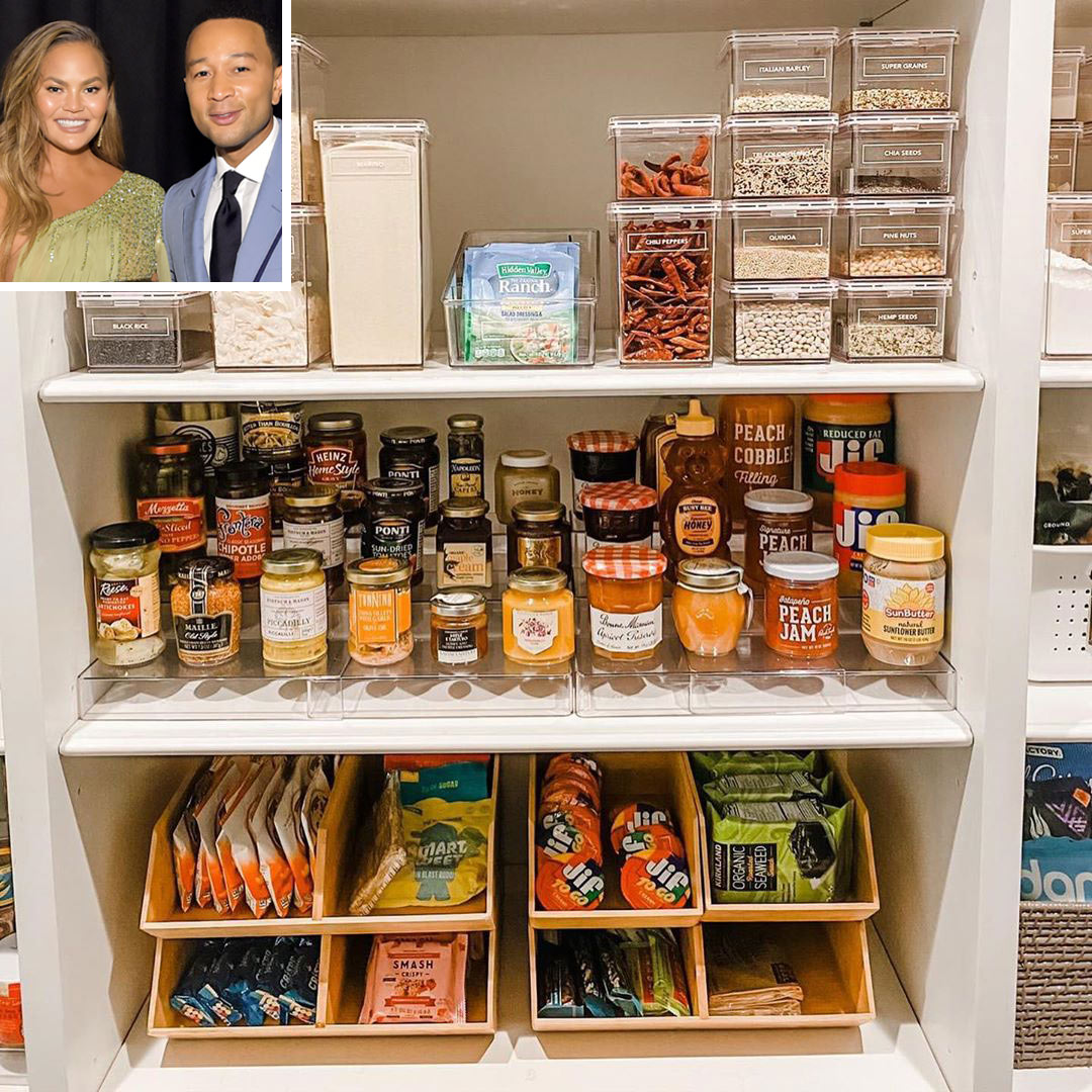 Chrissy Teigen and John Legend Pantry