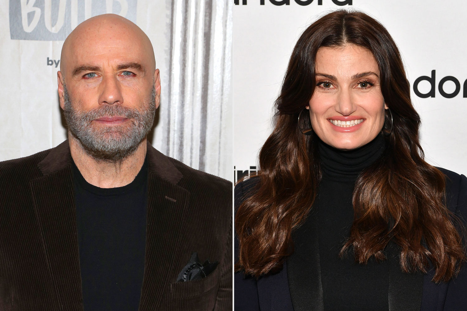 John Travolta and Idina Menzel