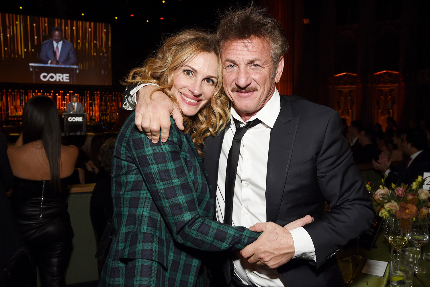 Julia Roberts and Sean Penn attend CORE Gala: A Gala Dinner to Benefit CORE and 10 Years of Life-Saving Work Across Haiti & Around the World at Wiltern Theatre on January 15, 2020 in Los Angeles
