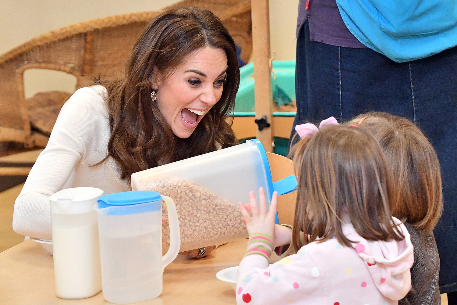 "Catherine, Duchess of Cambridge visits LEYF Stockwell Gardens Nursery & Pre-School following last week's launch of the ""5 Big Questions"" survey on January 29, 2020 in London, England"