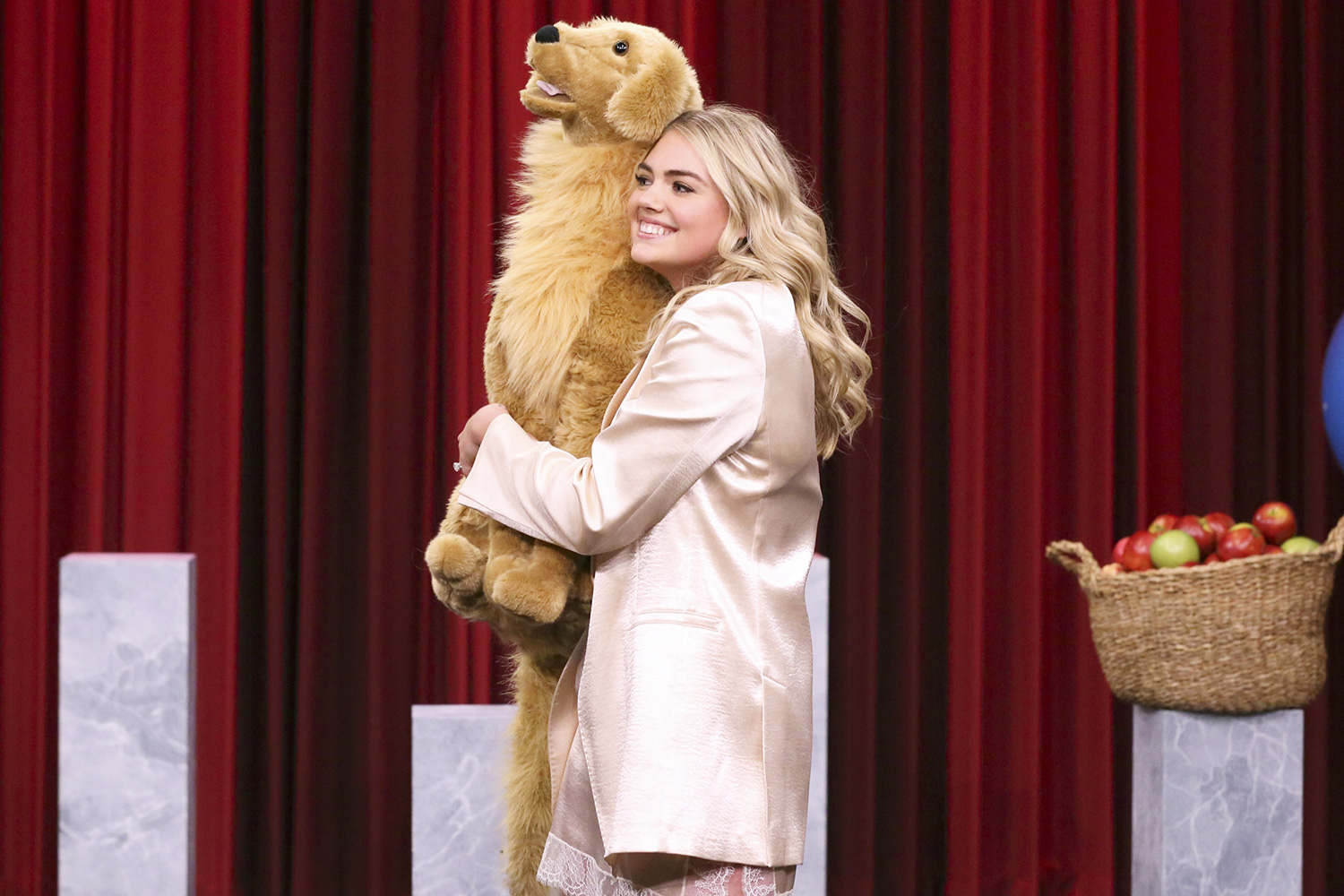 """Kate Upton during """"Heavy or Light"""" on January 20, 2020 THE TONIGHT SHOW STARRING JIMMY FALLON"""