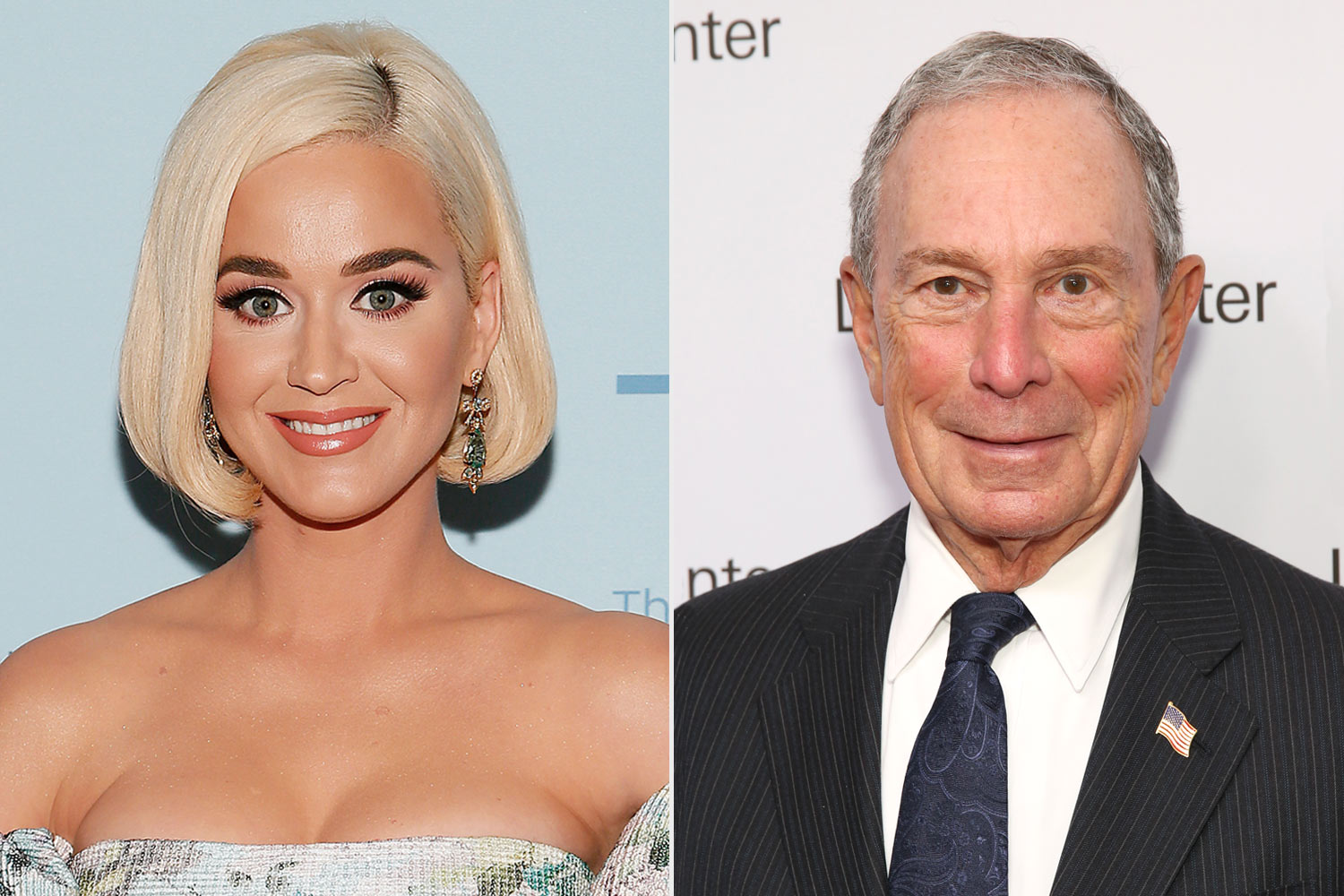 Katy Perry and Michael Bloomberg
