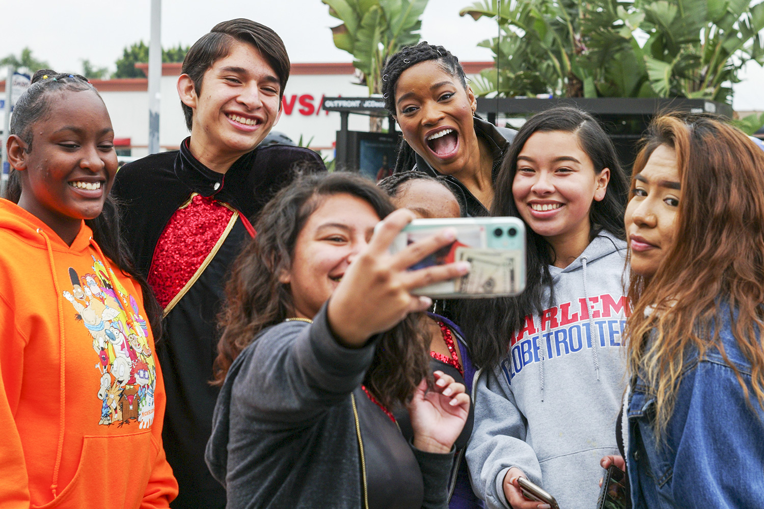 Grand marshal Keke Palmer takes selfie with fans in the 36th annual Kingdom Day Parade in Los Angeles on Monday Jan. 20, 2020