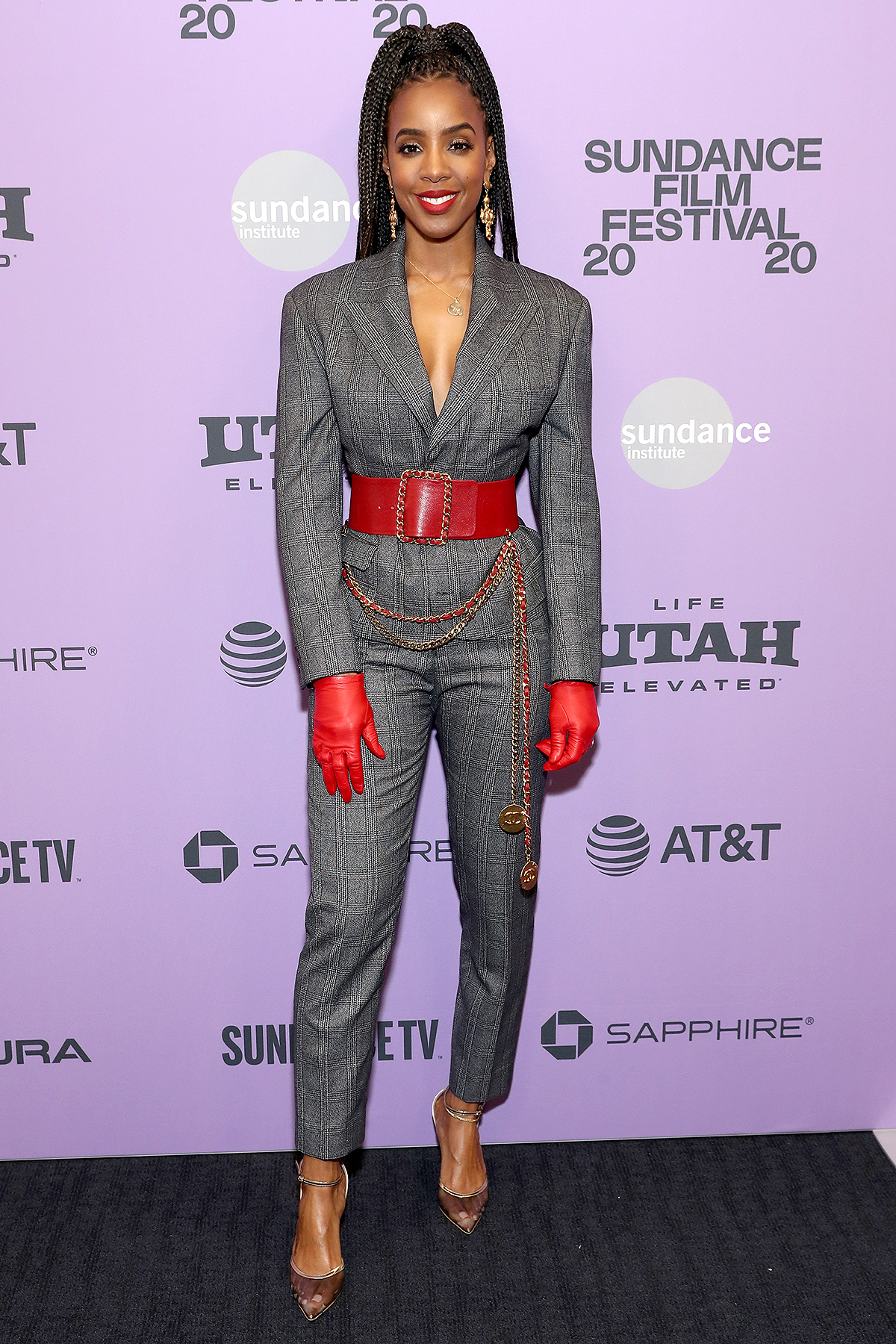 """Kelly Rowland attends the """"Bad Hair"""" premiere during the 2020 Sundance Film Festival at The Ray on January 23, 2020 in Park City, Utah."""