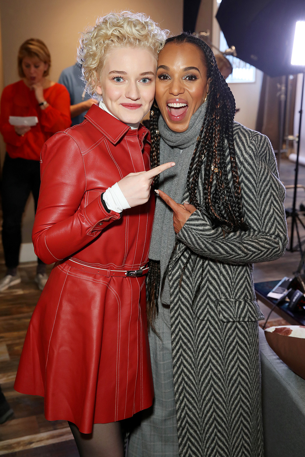 """Julia Garner of """"The Assistant"""" and Producer Kerry Washington of """"The Fight"""" stop by TheWrap Studio sponsored by Heineken at Sundance Film Festival on January 26, 2020 in Park City, Utah"""