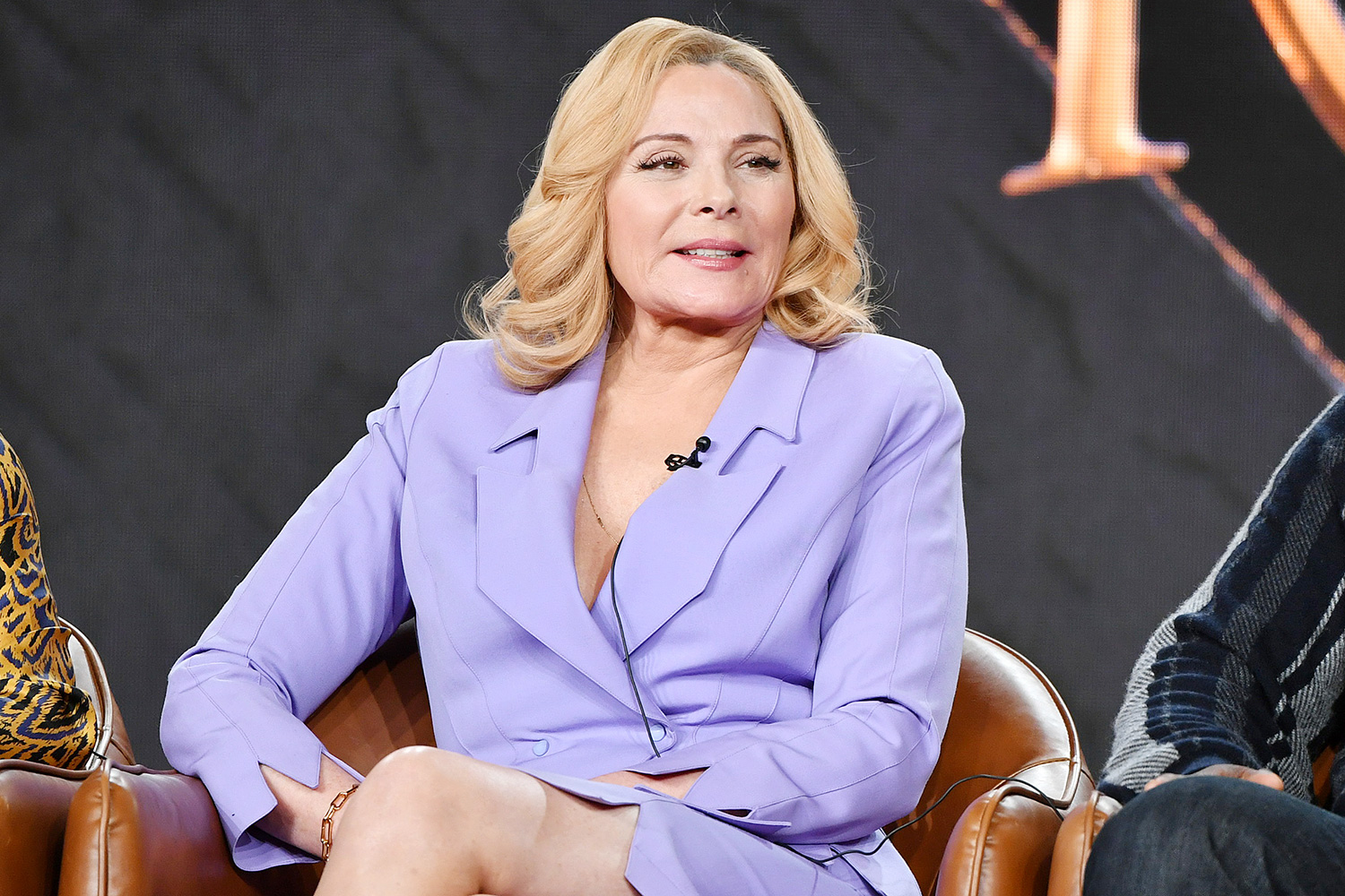 Kim Cattrall of 'Filthy Rich' speaks during the Fox segment of the 2020 Winter TCA Press Tour at The Langham Huntington, Pasadena on January 07, 2020 in Pasadena, California