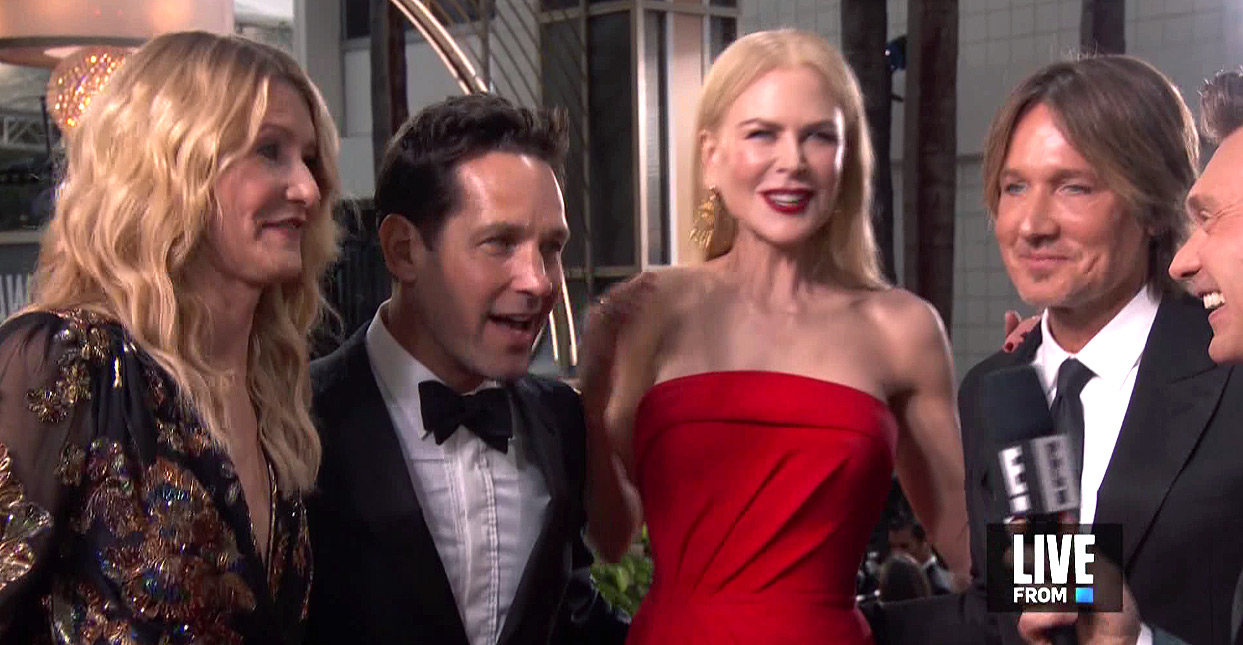 Nicole Kidman and Laura Dern Fangirl Over Each Other on Golden Globes Red Carpet