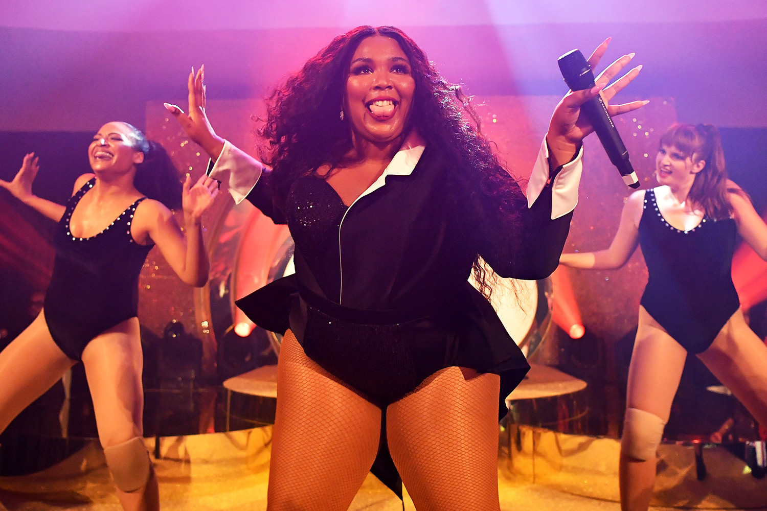 Lizzo performs onstage during the Warner Music Group Pre-Grammy Party at Hollywood Athletic Club on January 23, 2020 in Hollywood, California