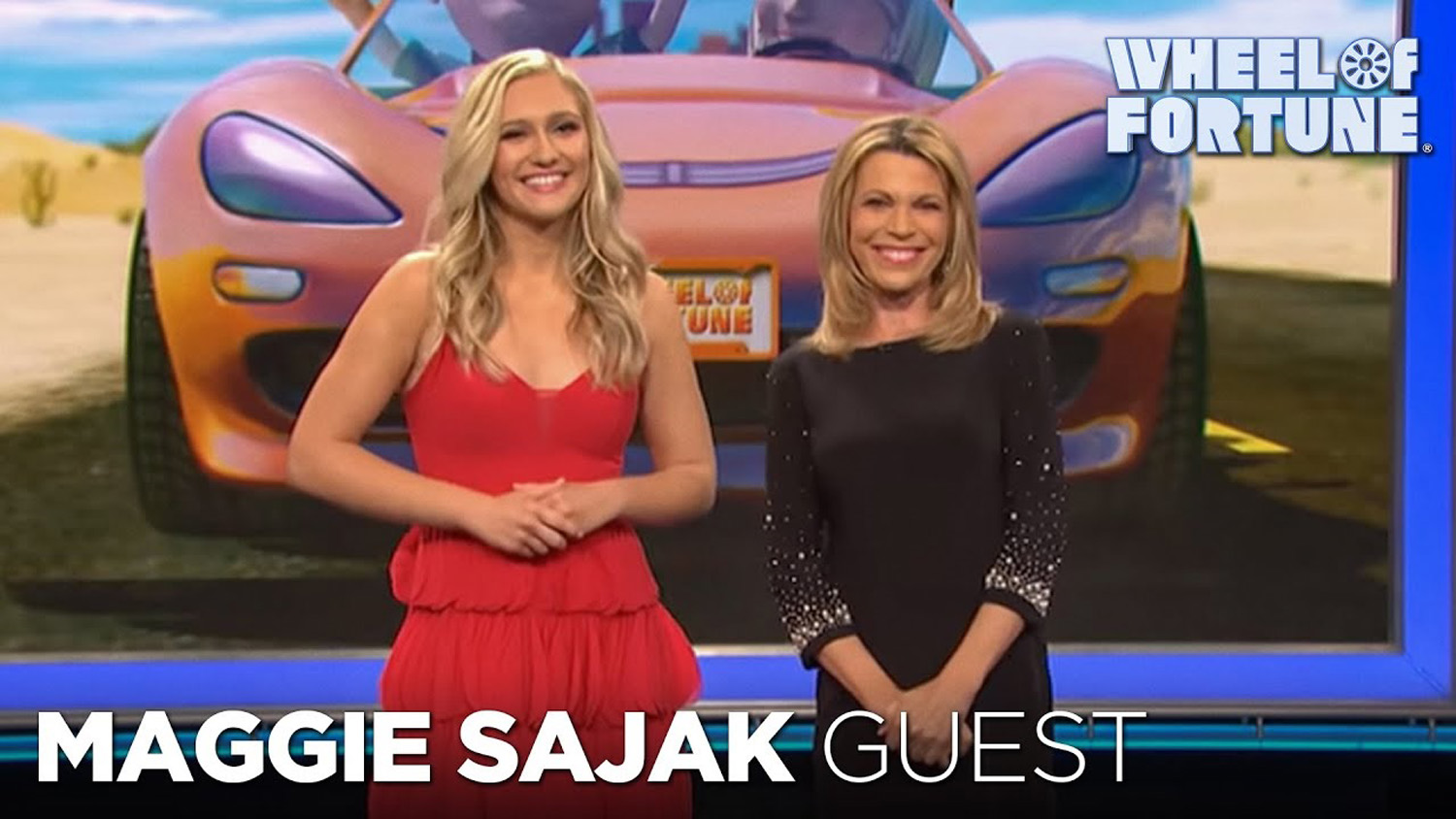 Maggie Sajak Introduced as the Special Guest Letter-Turner for Weekend Getaways | Wheel of Fortune