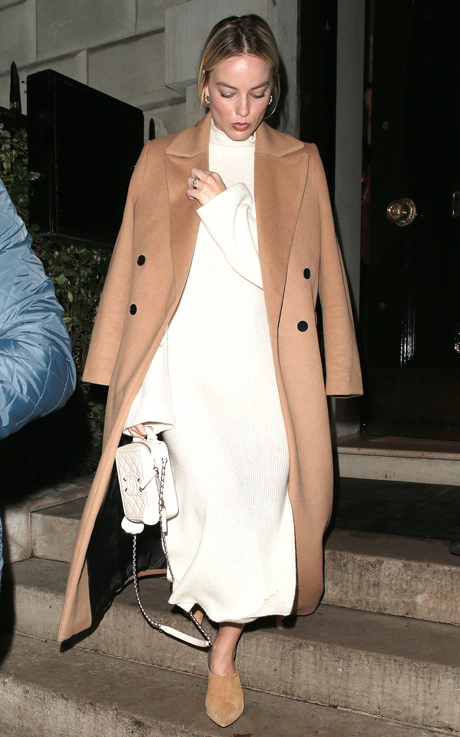 Margot Robbie spotted at Annabel's in Mayfair, London. JANUARY 28th 2020