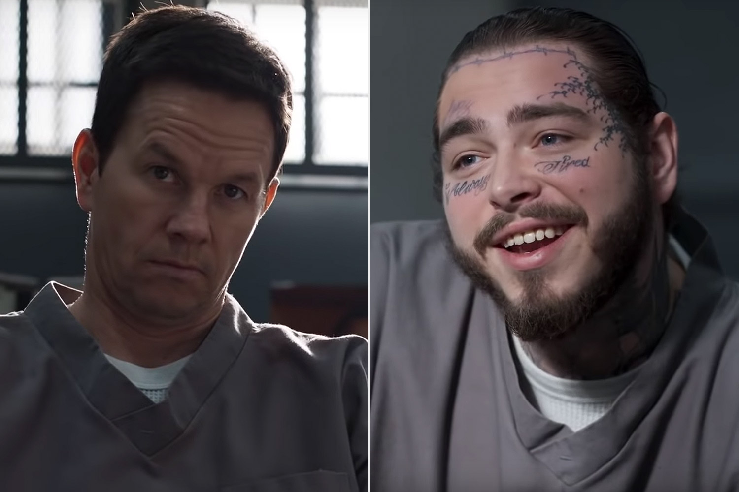 Mark Wahlberg and Post Malone in Spenser Confidential