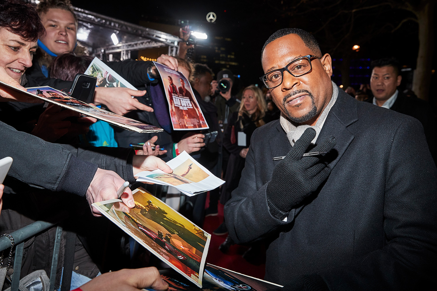 "Martin Lawrence is seen with fans at the Berlin premiere of ""Bad Boys For Life"" at Zoo Palast on January 07, 2020 in Berlin"