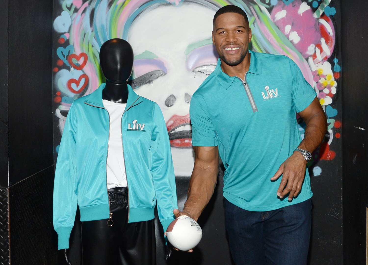 Football Hall of Famer and Good Morning America co-host Michael Strahan at the launch party to celebrate the launch of MSX by Michael Strahan for NFL, an exclusive limited-edition Super Bowl LIV capsule collection in celebration of the NFL's 100th season