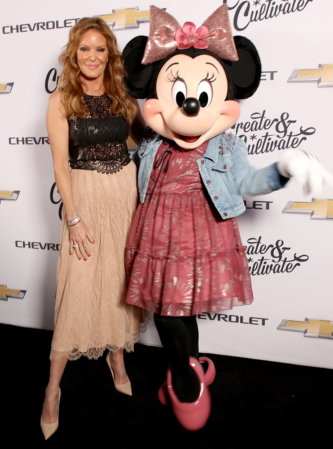 Paige Adams-Geller and honoree Minnie Mouse