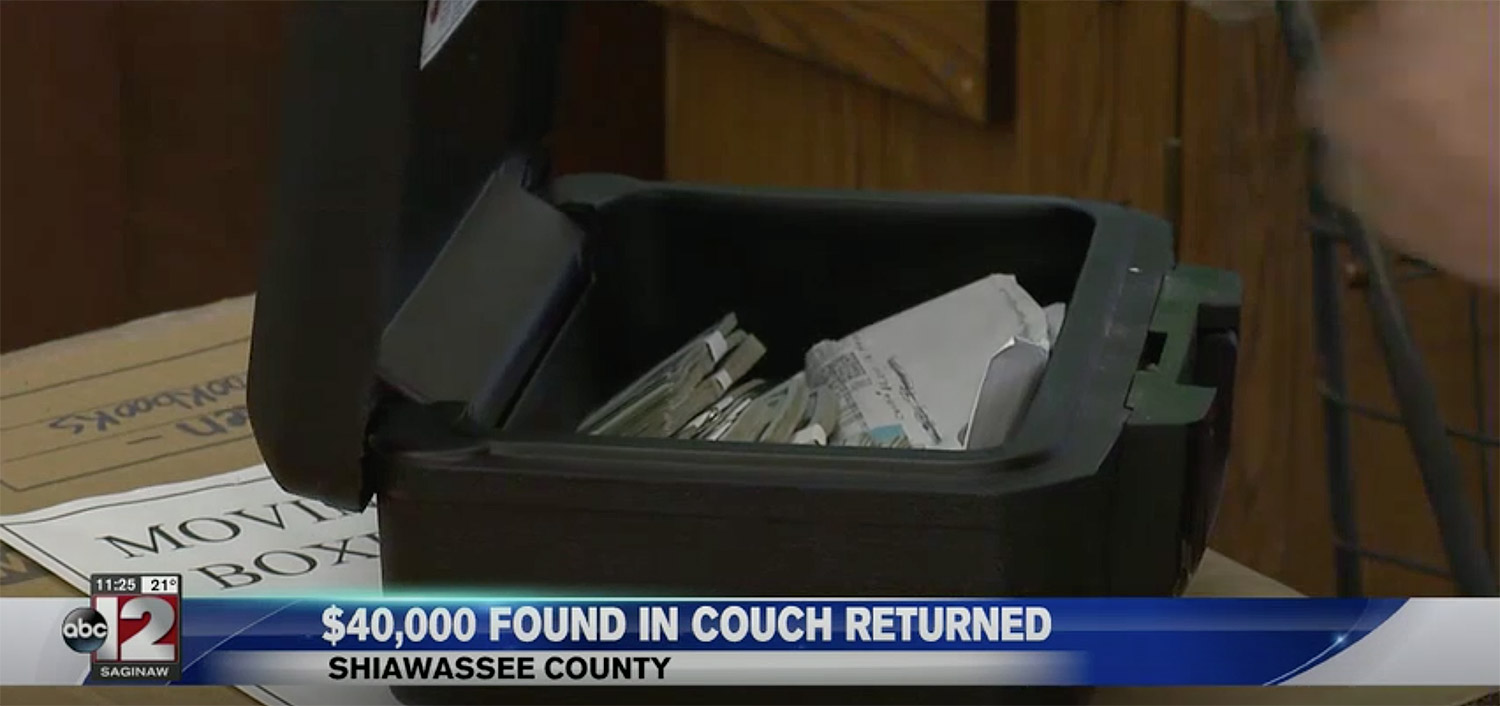 money found in couch returned