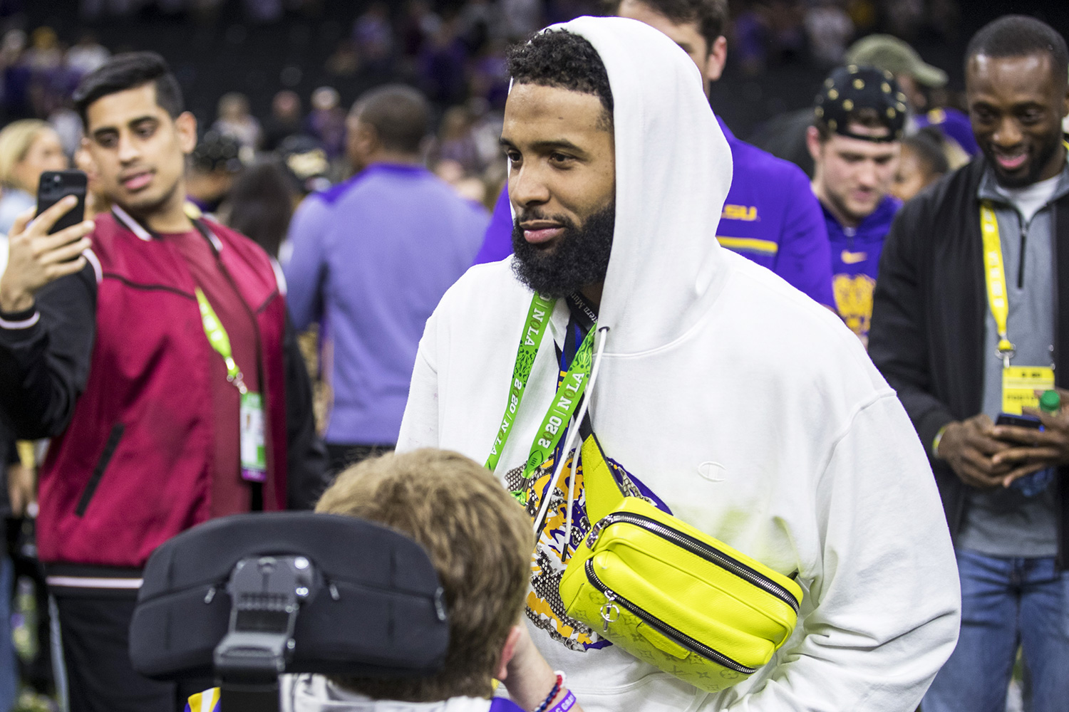 Odell Beckham Jr. after College Football Playoff National Championship game action between the Clemson Tigers and the LSU Tigers at Mercedes-Benz Superdome in New Orleans, Louisiana. LSU defeated Clemson 42-25 NCAA Football CFP National Championship Clemson vs LSU, USA - 13 Jan 2020