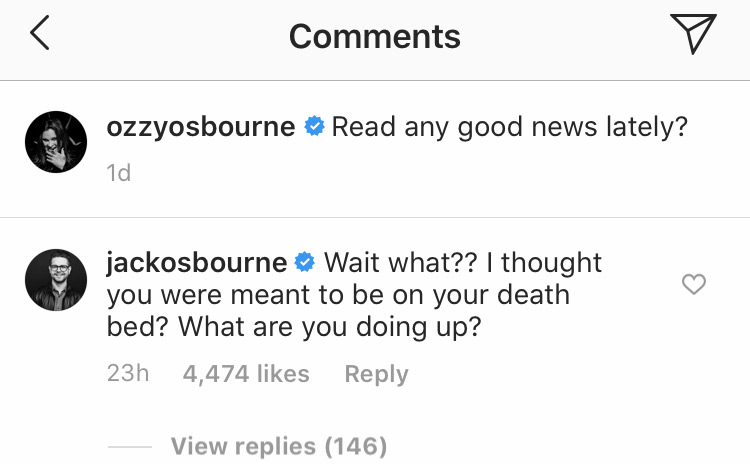 Kelly Osbourne slams rumors that Ozzy is on his deathbed