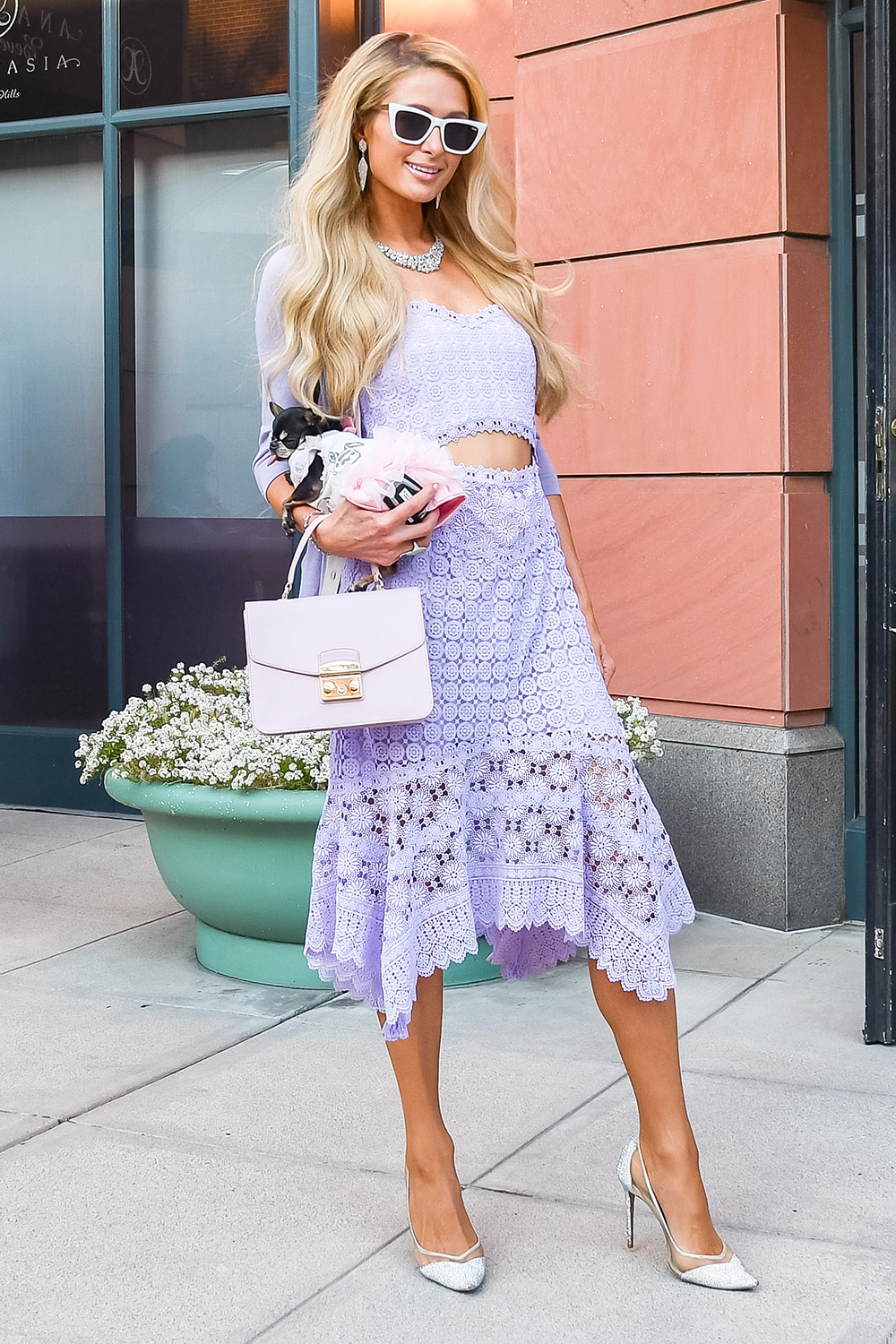 Paris Hilton is seen on January 22, 2020 in Los Angeles, California