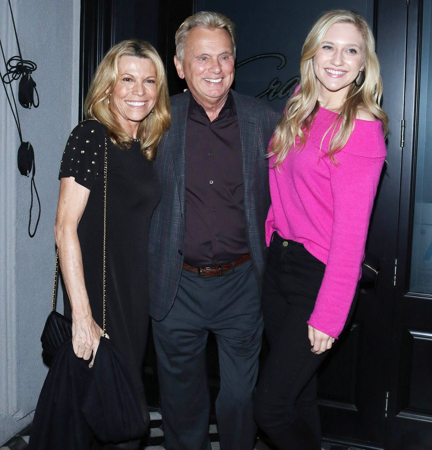 Vanna White, Pat Sajak and Maggie Sajak are seen on January 9, 2020 in Los Angeles, California