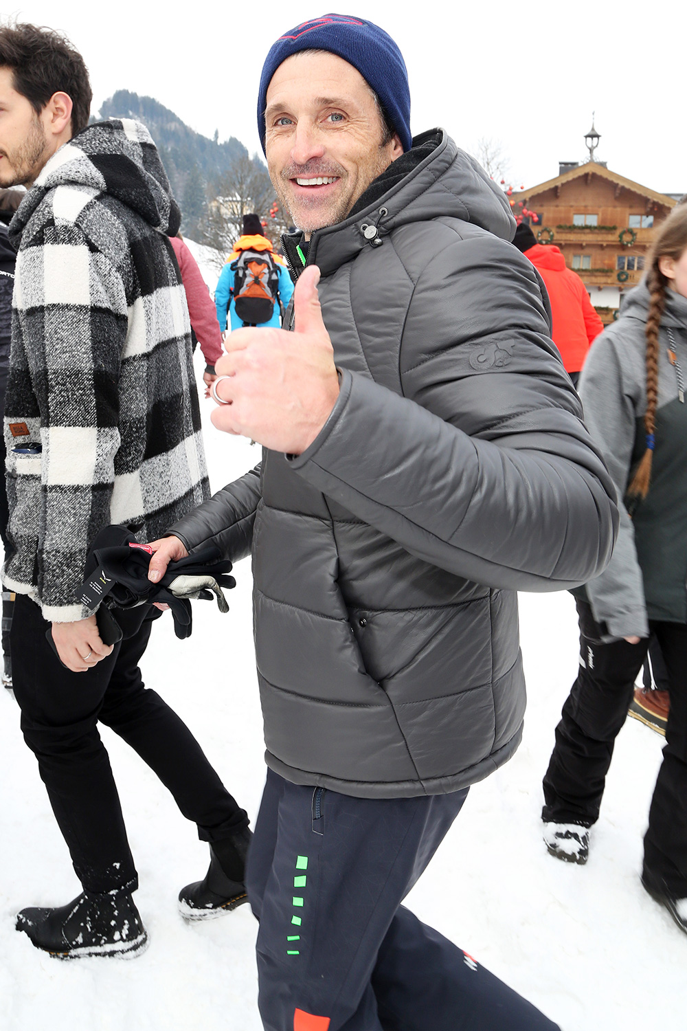 Patrick Dempsey attends the world's most difficult Ski Race at the Hahnenkamm in Kitzbuehel, Austria