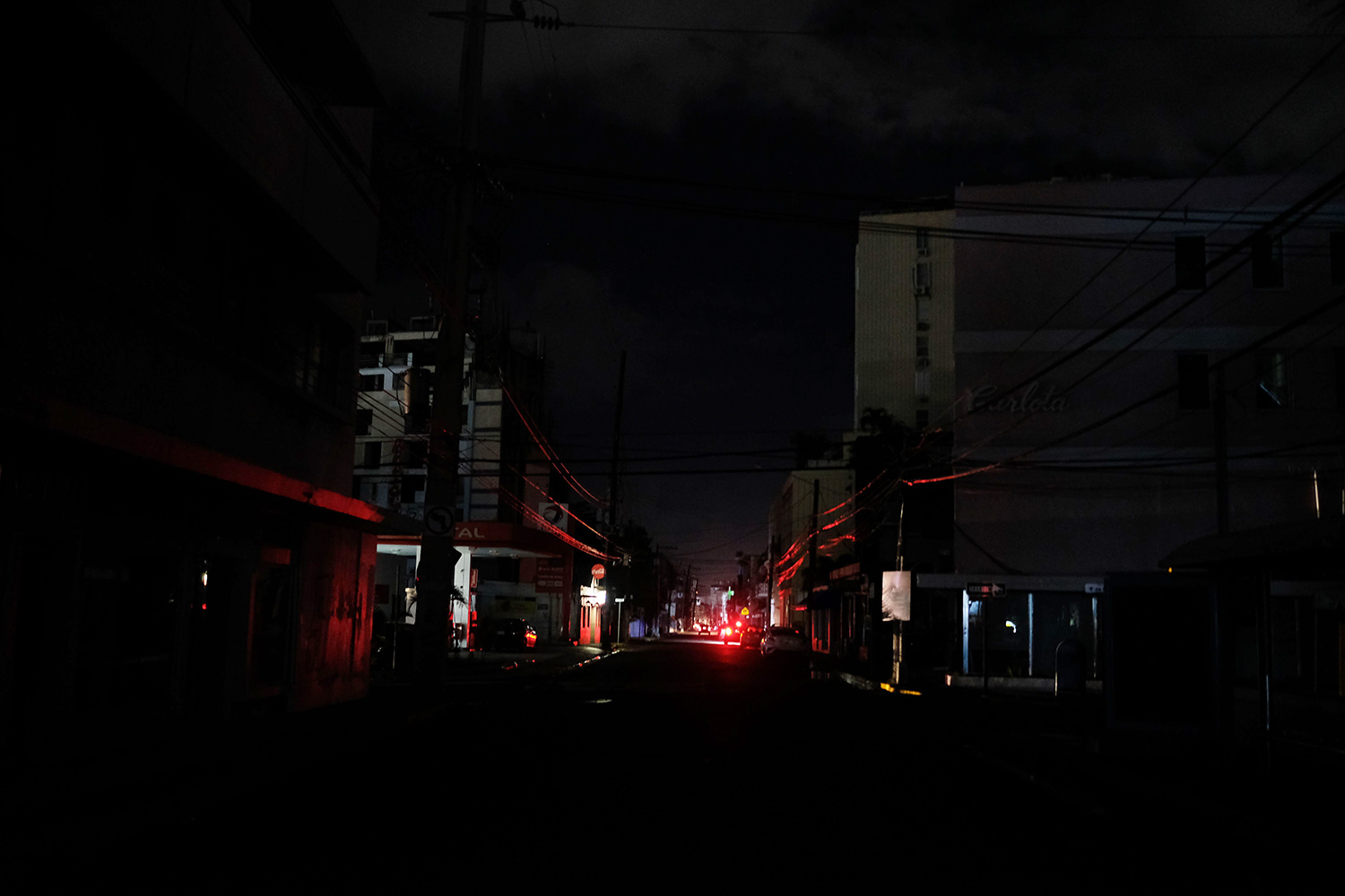 San Juan is plunged in darkness after a 6.4 earthquake rattled Puerto Rico early January 7, 2020 leaving the island largely without power