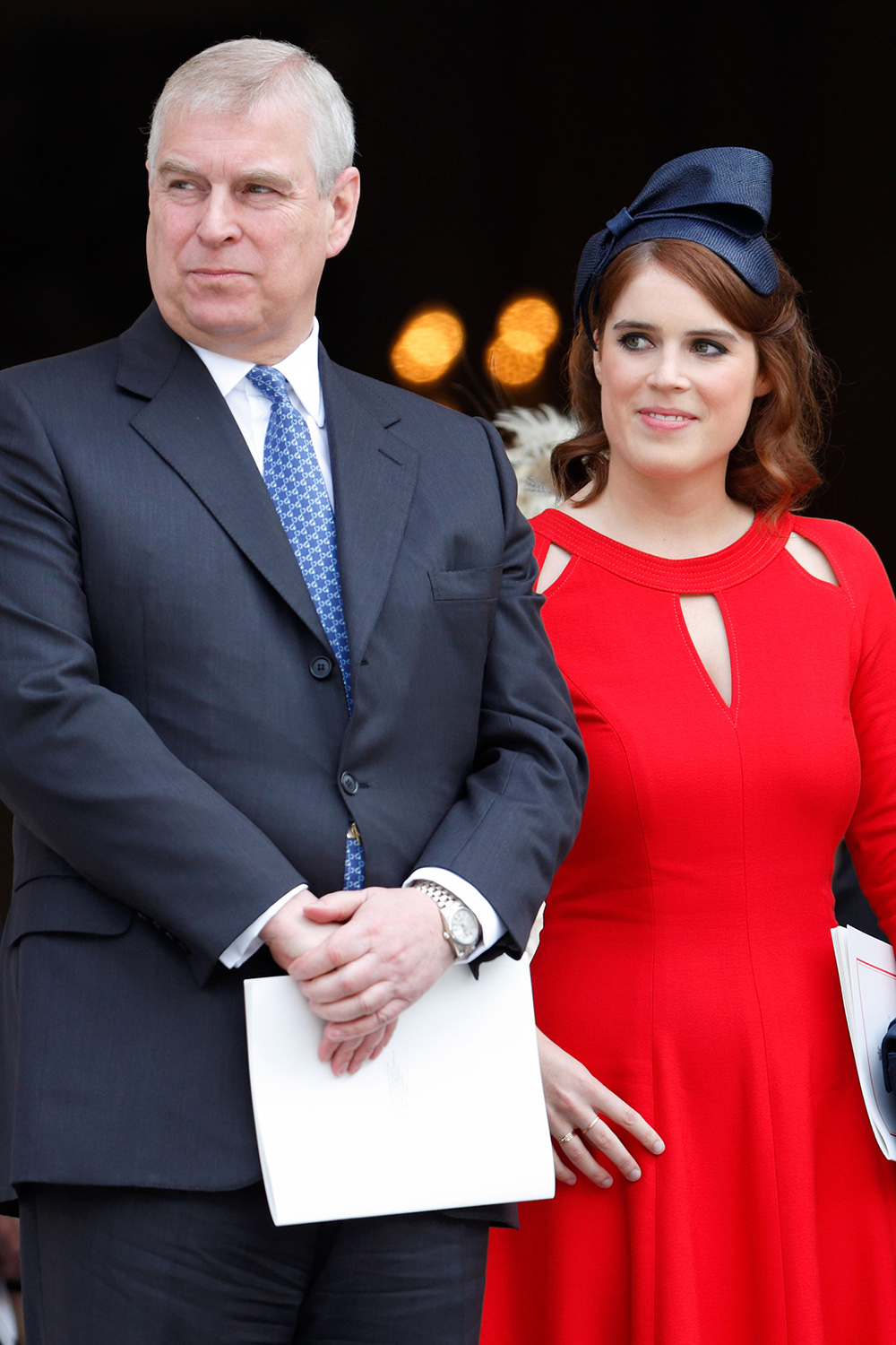 Prince Andrew, Duke of York and Princess Eugenie