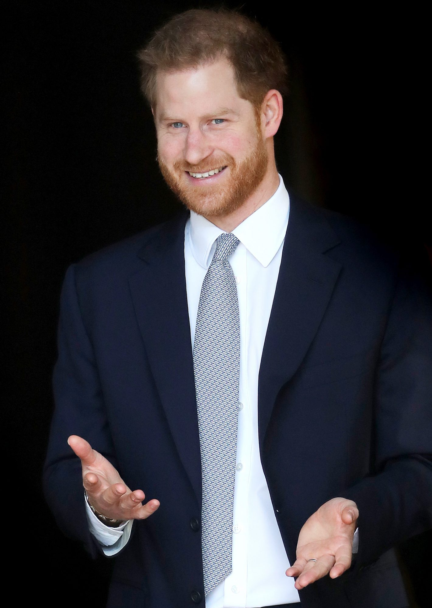 Prince Harry, Duke of Sussex hosts the Rugby League World Cup 2021 draws for the men's, women's and wheelchair tournaments at Buckingham Palace on January 16, 2020 in London, England