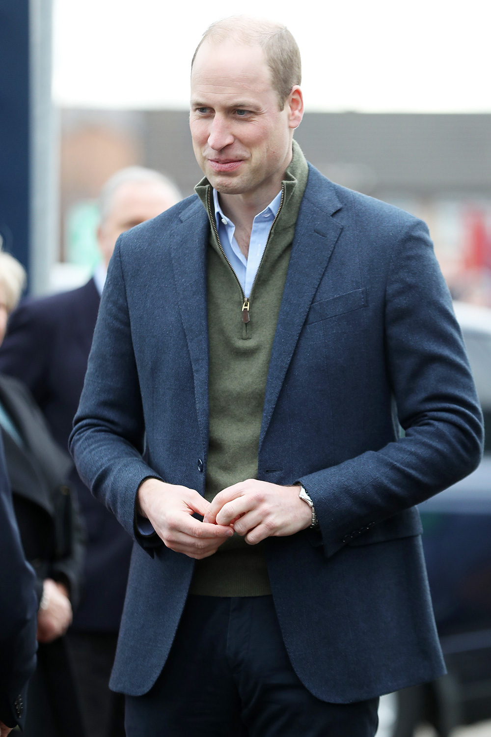 Prince William, Duke of Cambridge visits Everton Football Club's official charity Everton in the Community as part of the Heads Up campaign on January 30, 2020 in Liverpool, England