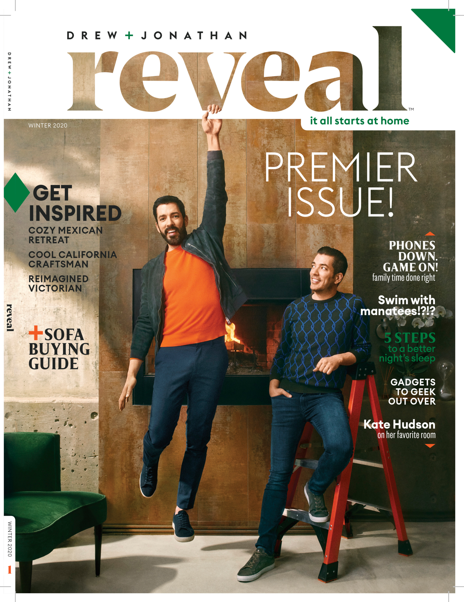 Cover of Property Brothers Magazine first issue Reveal.