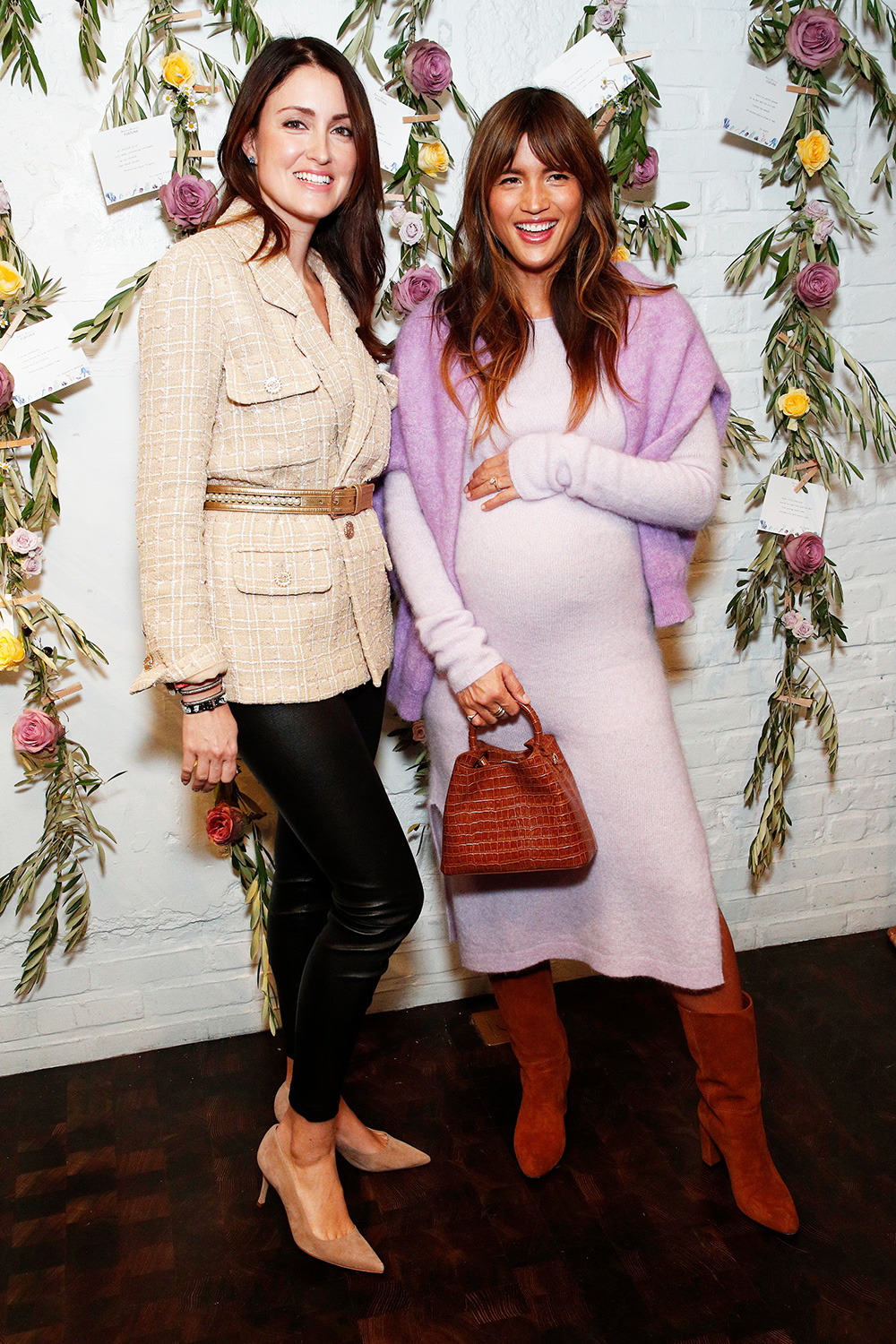 Agatha Luczo and Rocky Barnes attend the Bambini Furtuna Launch Brunch at The Little Owl Townhouse on January 14, 2020 in New York City