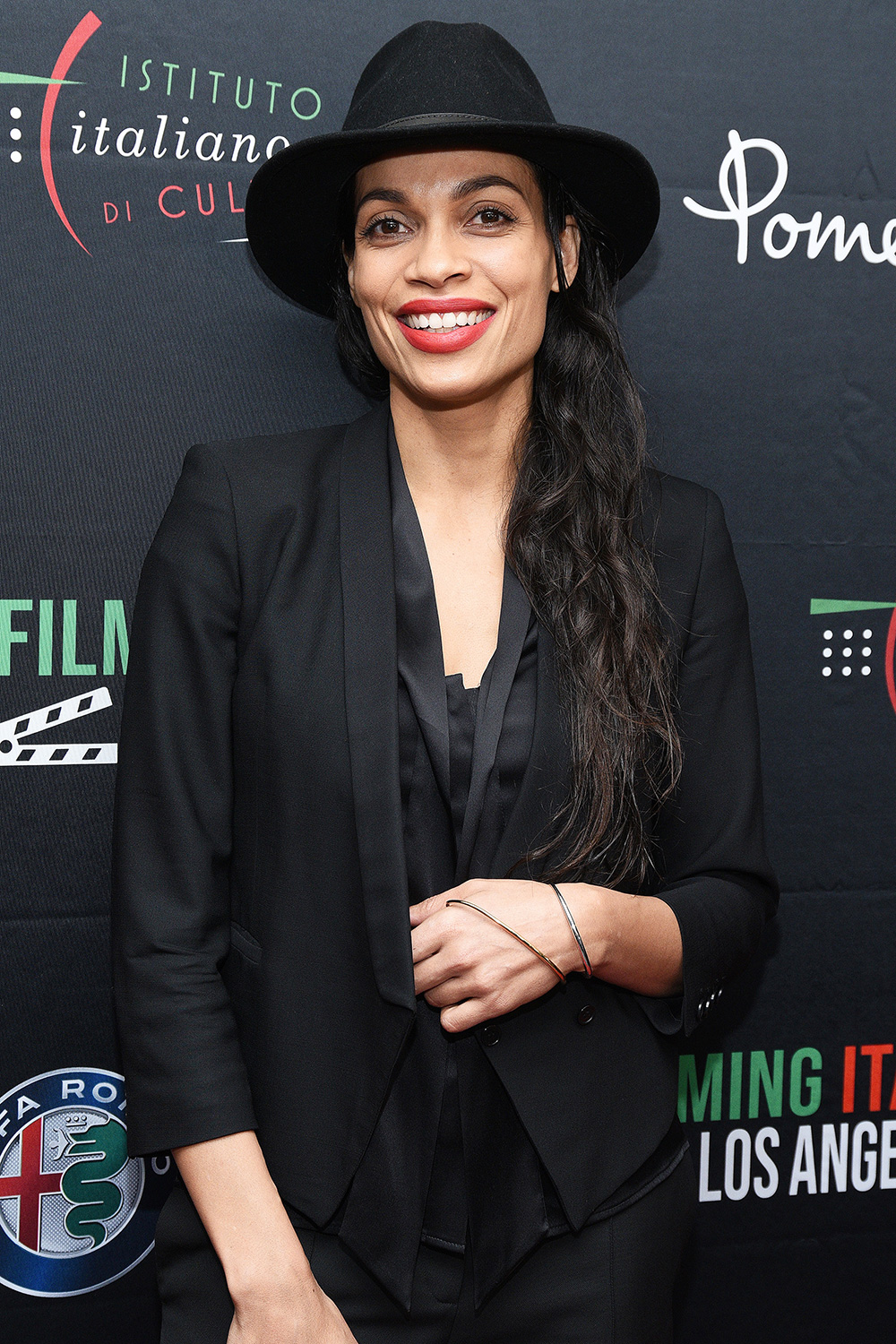 Rosario Dawson attends 2020 Filming Italy at Harmony Gold Theatre on January 20, 2020 in Los Angeles, California