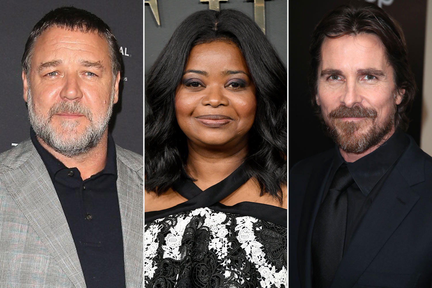 Russell Crowe, Octavia Spencer and Christian Bale