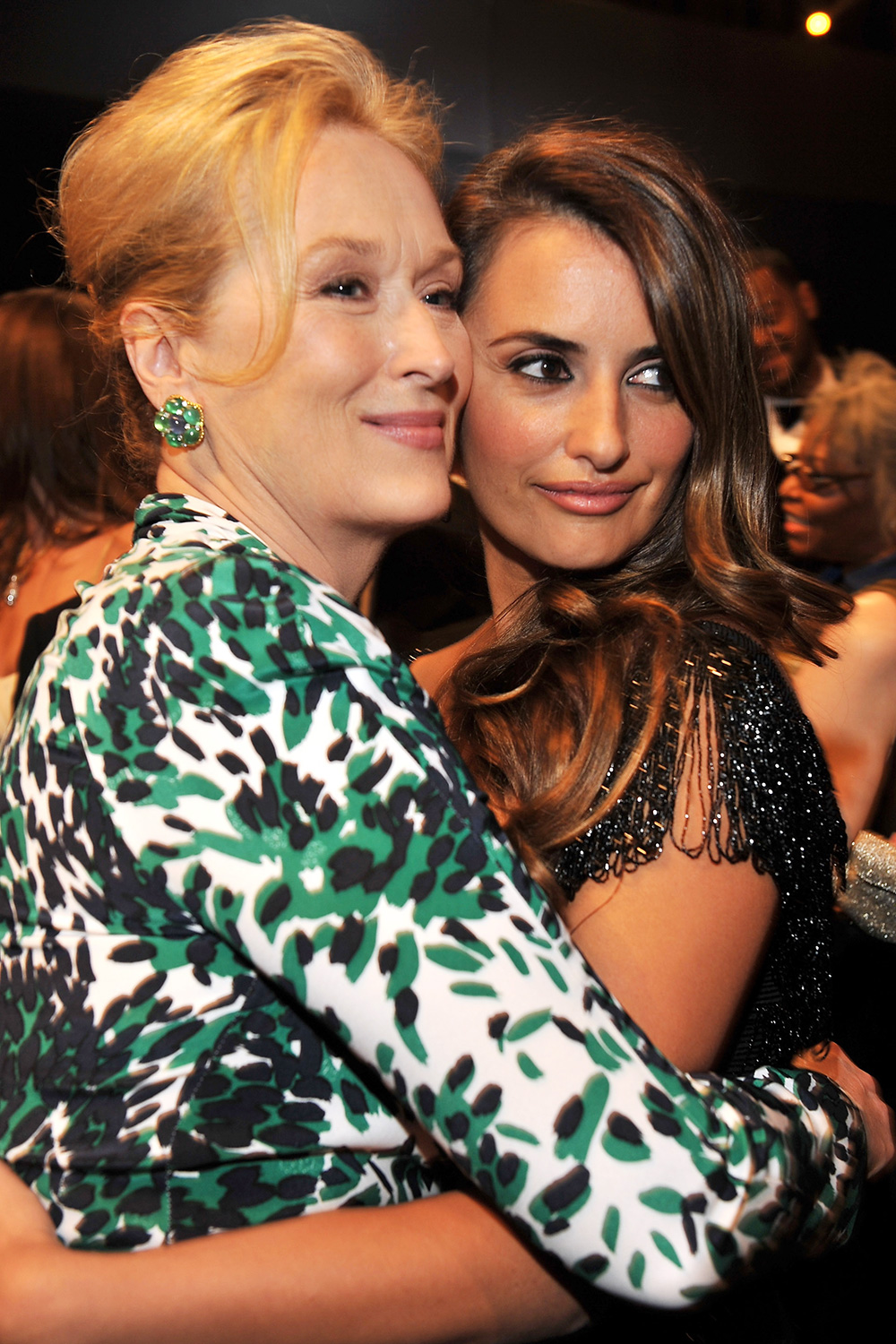 Meryl Streep and Penelope Cruz attend the TNT/TBS broadcast of the 16th Annual Screen Actors Guild Awards at the Shrine Auditorium on January 23, 2010 in Los Angeles, California