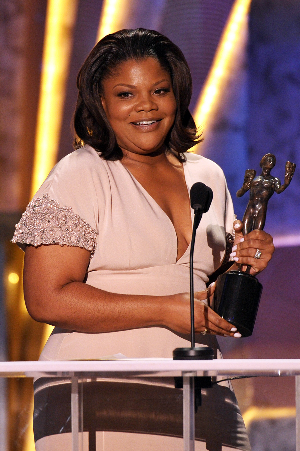 Monique onstage at the TNT/TBS broadcast of the 16th Annual Screen Actors Guild Awards held at the Shrine Auditorium on January 23, 2010 in Los Angeles, California