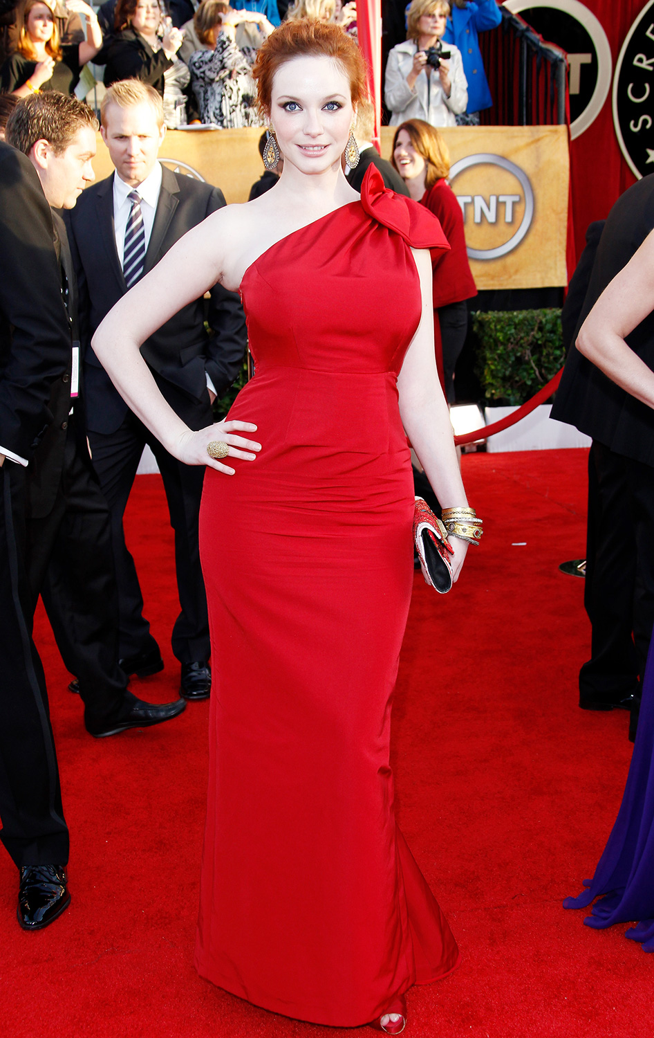 Christina Hendricks arrives at the 16th Annual Screen Actors Guild Awards held at the Shrine Auditorium on January 23, 2010 in Los Angeles, California