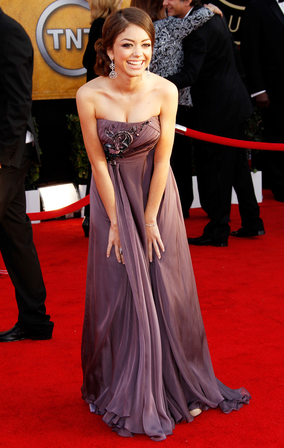 Sarah Hyland arrives at the 16th Annual Screen Actors Guild Awards held at the Shrine Auditorium on January 23, 2010 in Los Angeles, California