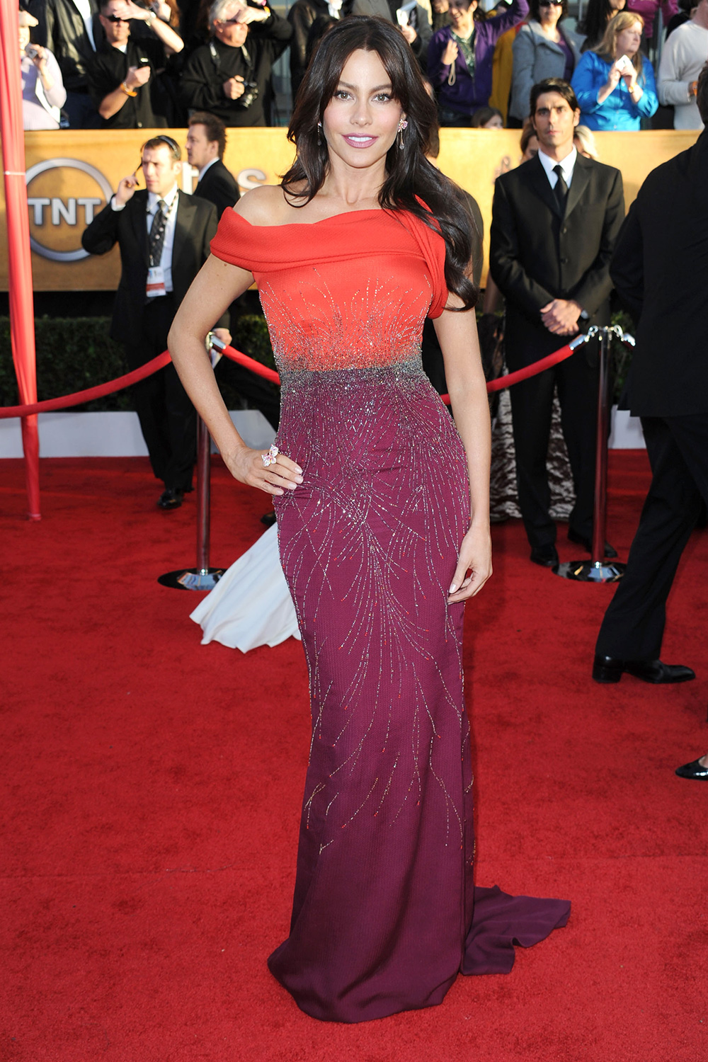Sofía Vergara arrives at the 16th Annual Screen Actors Guild Awards held at the Shrine Auditorium on January 23, 2010 in Los Angeles, California