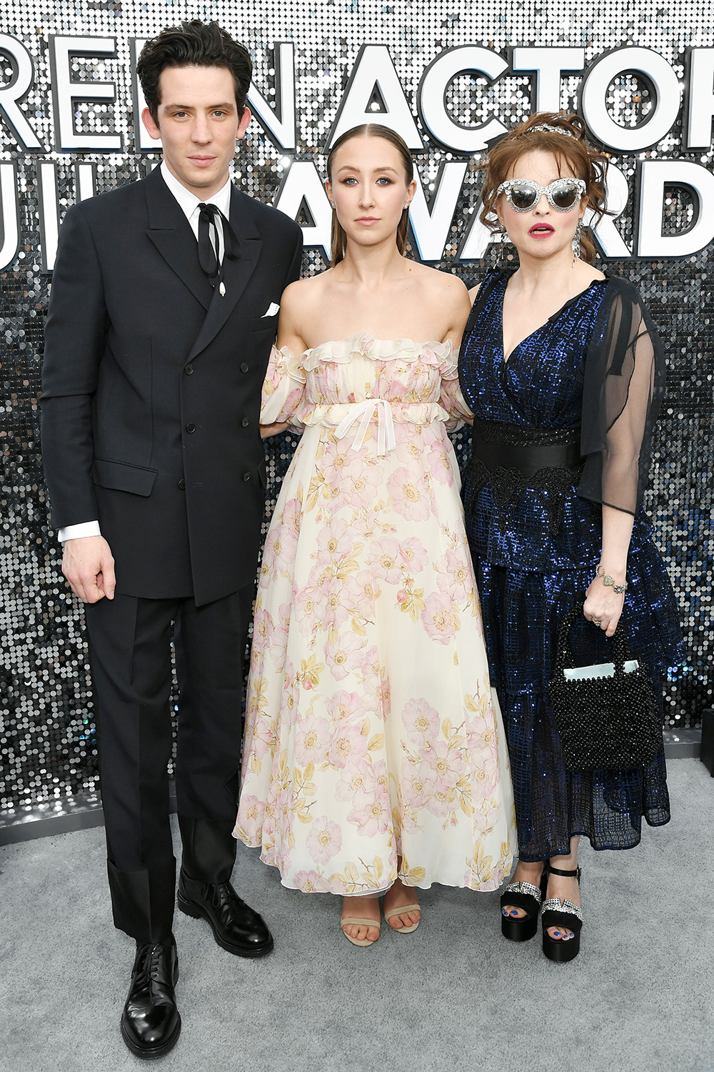 Josh O'Connor, Erin Doherty and Helena Bonham Carter 26th Annual Screen Actors Guild Awards, Arrivals, Shrine