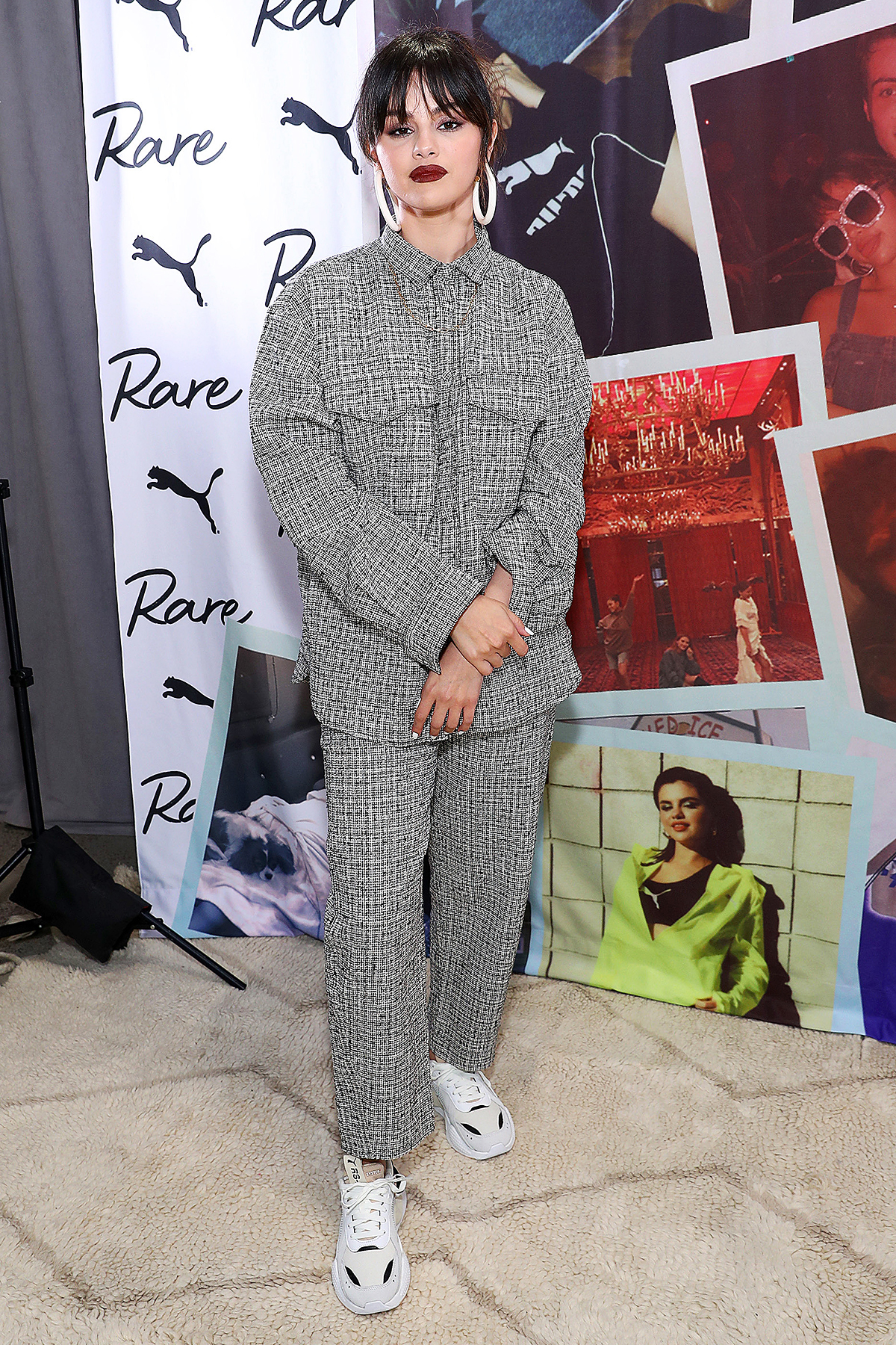 Selena Gomez poses during the Meet & Greet with Selena Gomez at PUMA Flagship on January 14, 2020 in New York City.