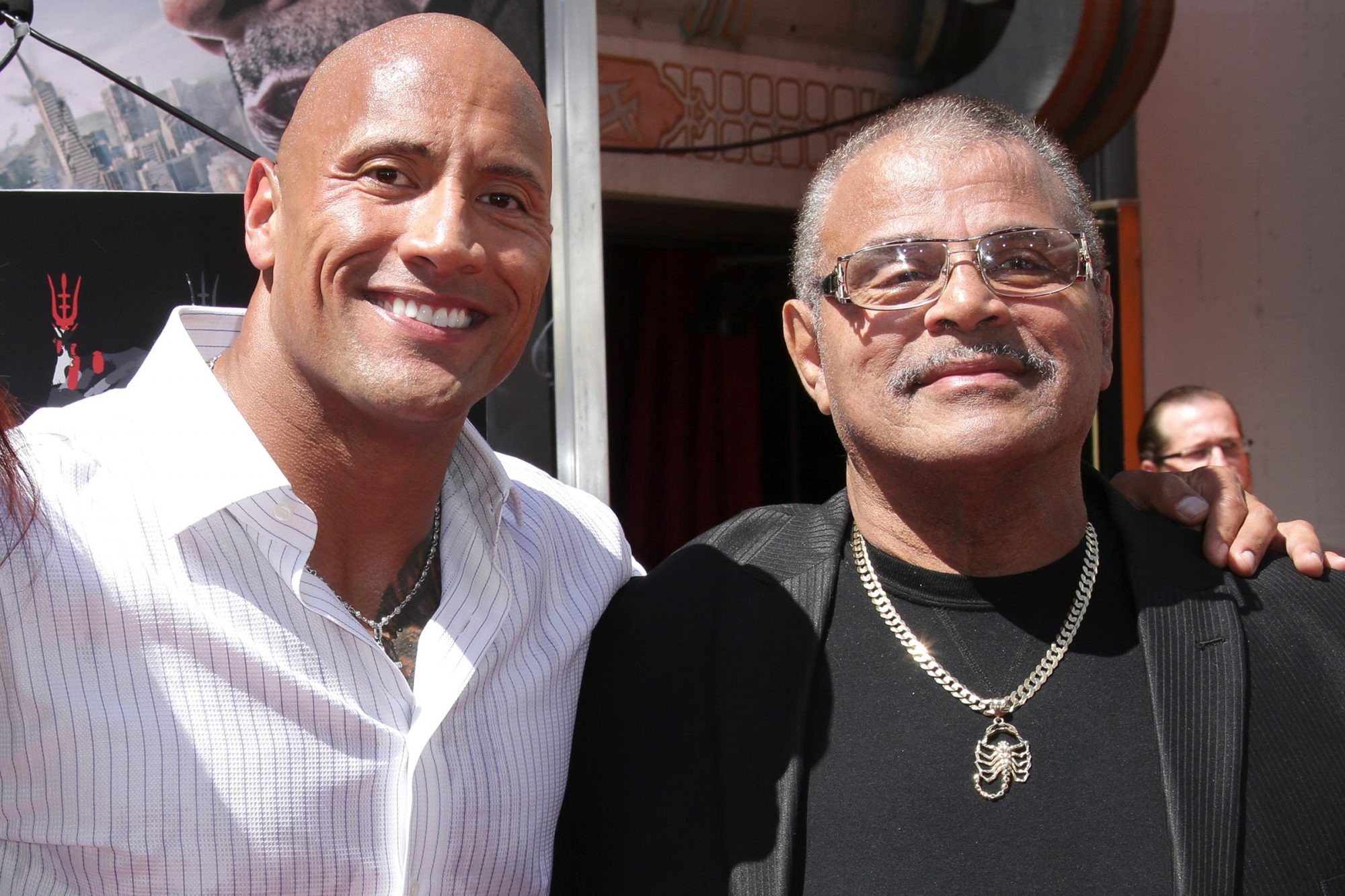 Dwayne Johnson and Rocky Johnson