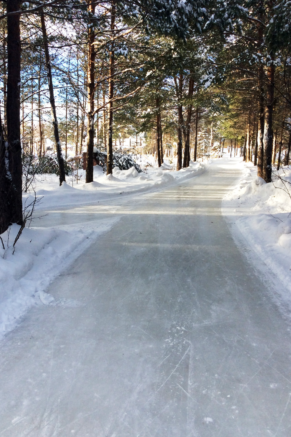 9 Mile Skating Trail in Quebec, Canada