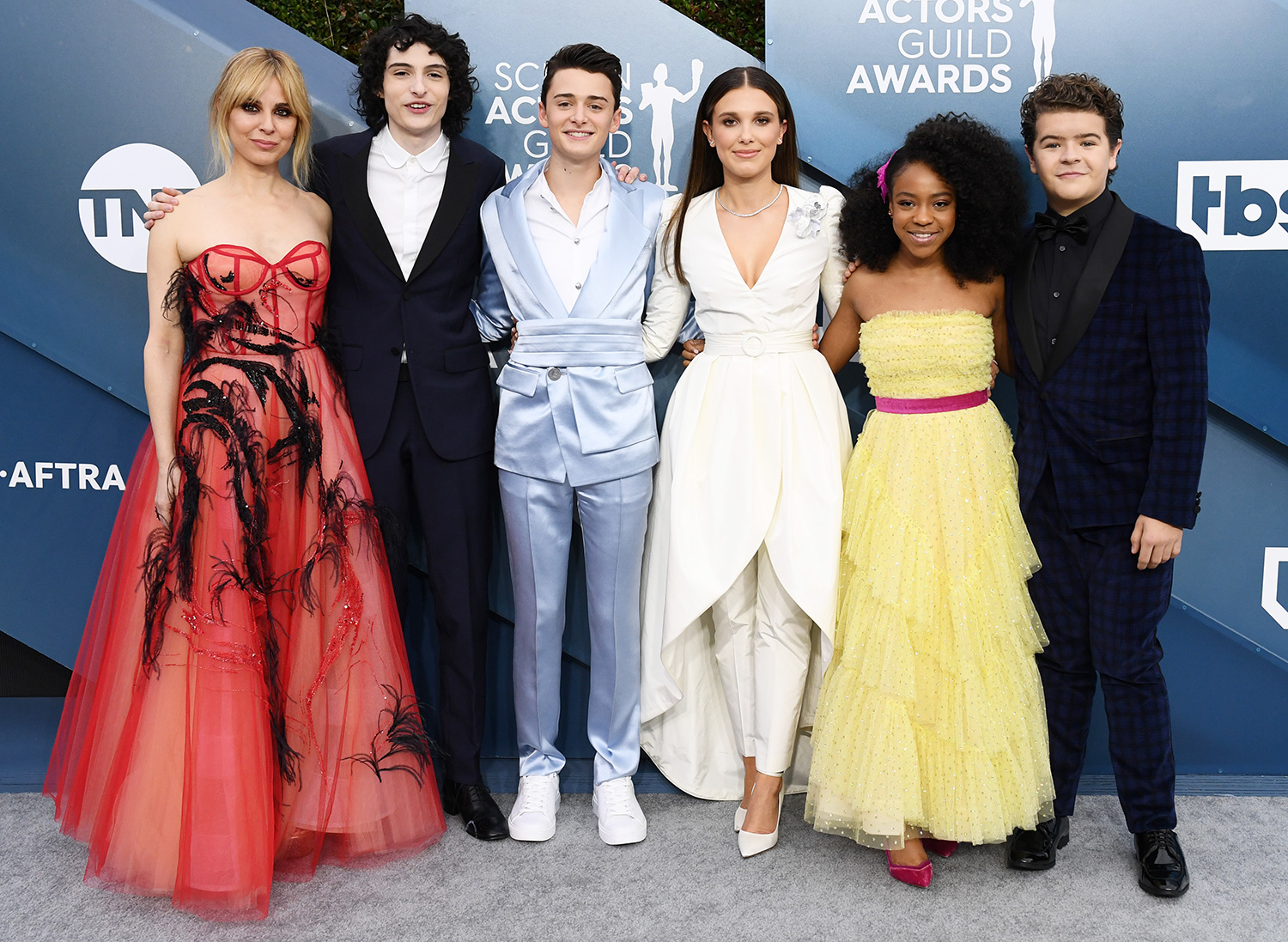 Stranger Things cast 26th Annual Screen Actors Guild Awards, Arrivals, Shrine Auditorium, Los Angeles, USA - 19 Jan 2020