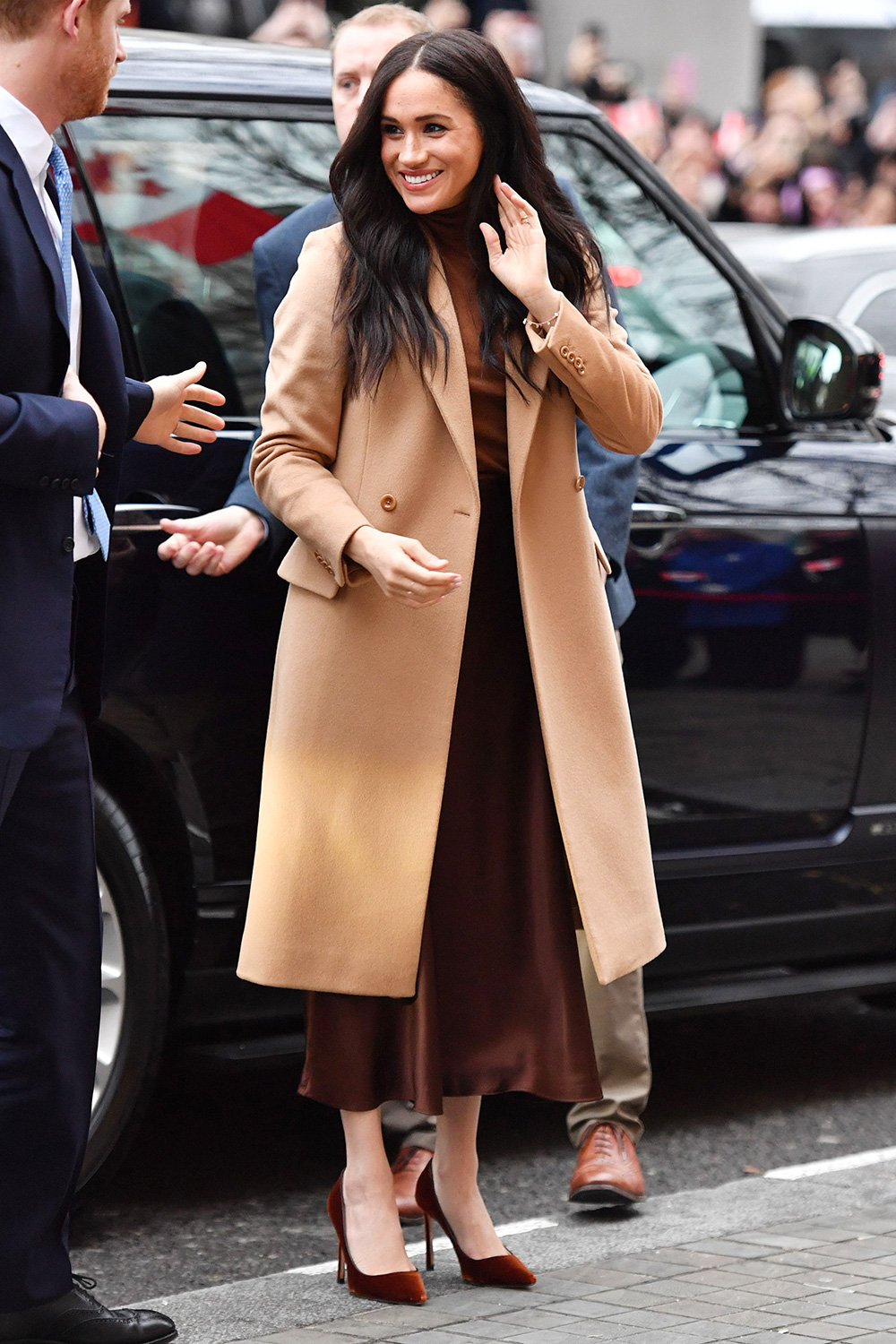 The Duke and Duchess of Sussex arriving for their visit to Canada House, central London, to meet with Canada's High Commissioner to the UK, Janice Charette, as well as staff, to thank them for the warm hospitality and support they received during their recent stay in Canada.