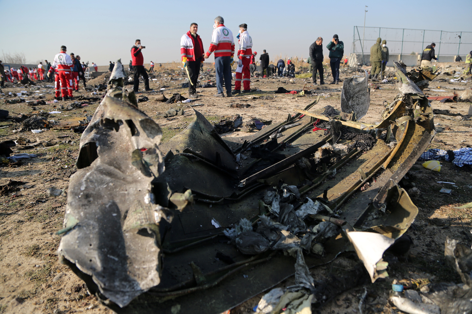 Ukraine International Airlines plane crashes
