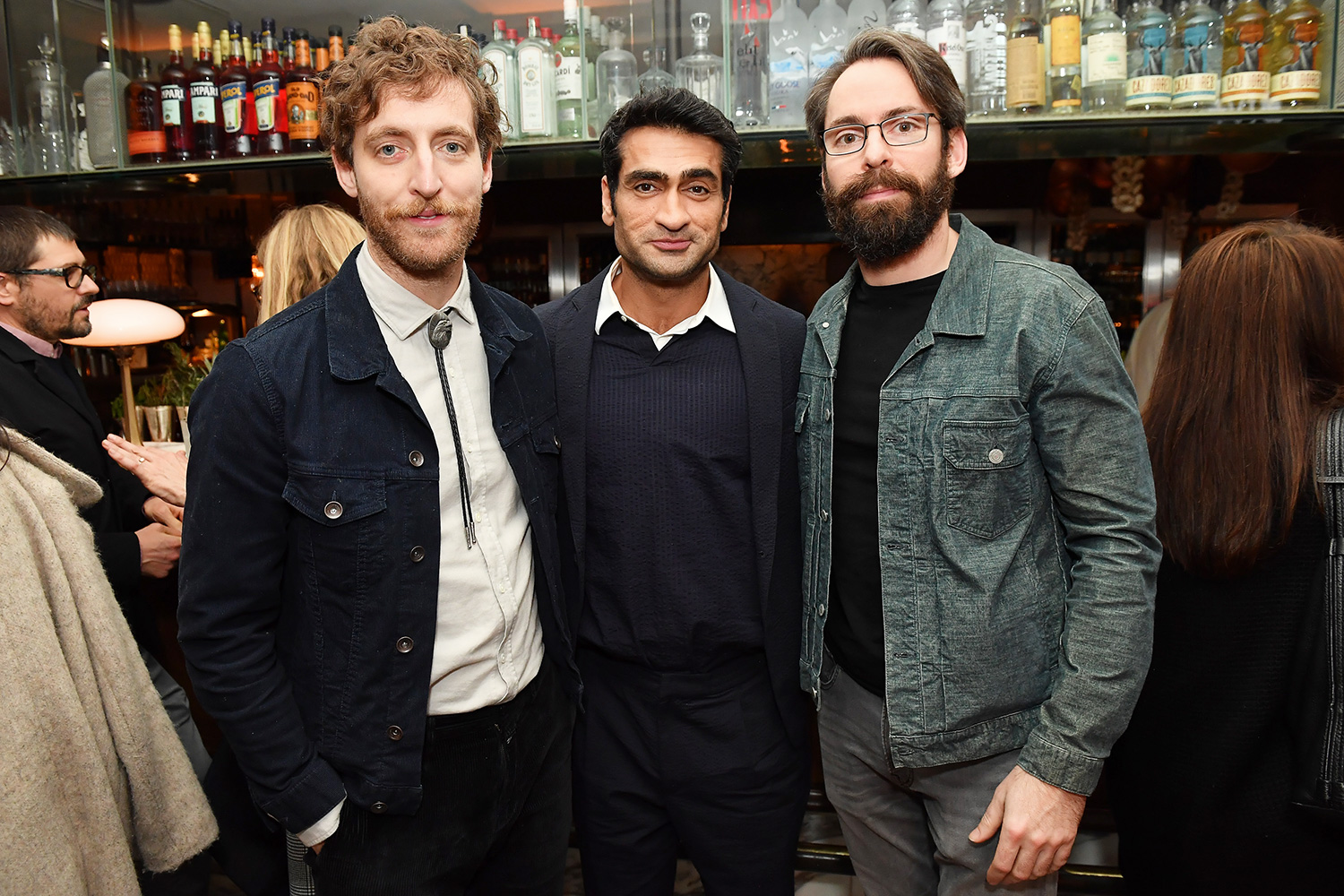 """Thomas Middleditch, Kumail Nanjiani and Martin Starr attend the premiere of Apple TV+'s """"Little America"""" afterparty on January 23, 2020 in West Hollywood, California"""