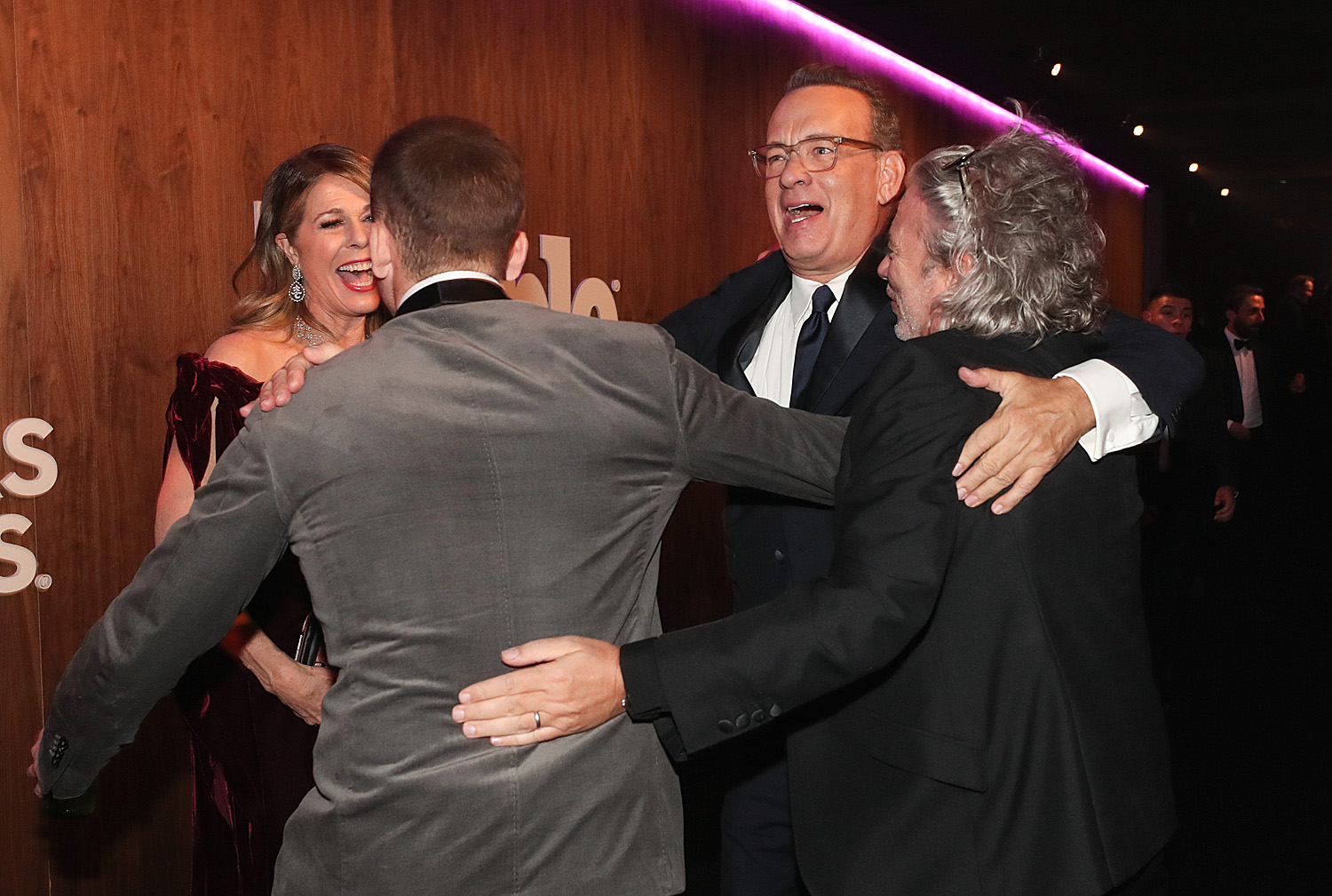 Taron Egerton, Rita Wilson, Tom Hanks and Dexter Fletcher